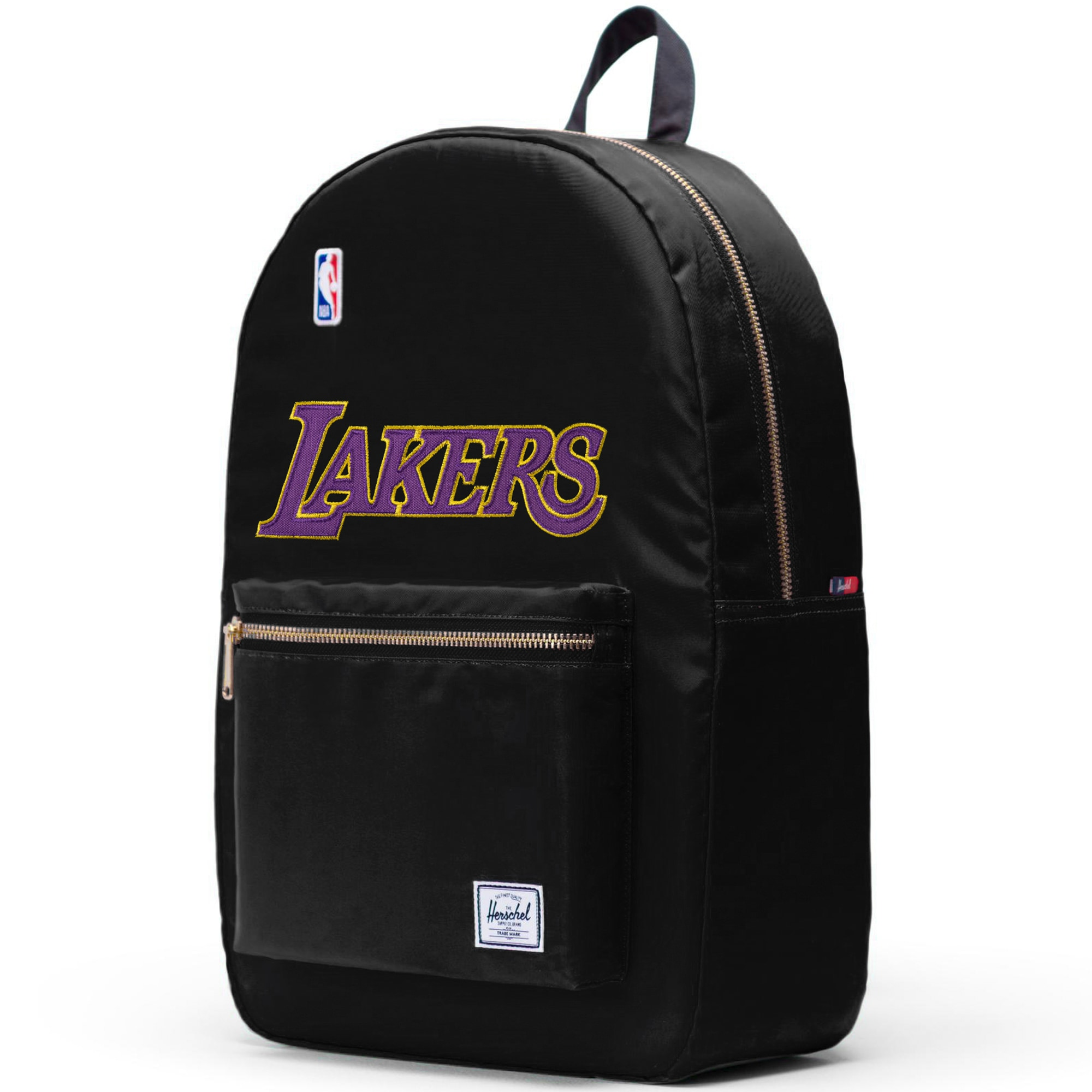 Los Angeles Lakers Herschel Supply Co. Satin Settlement Backpack - Black