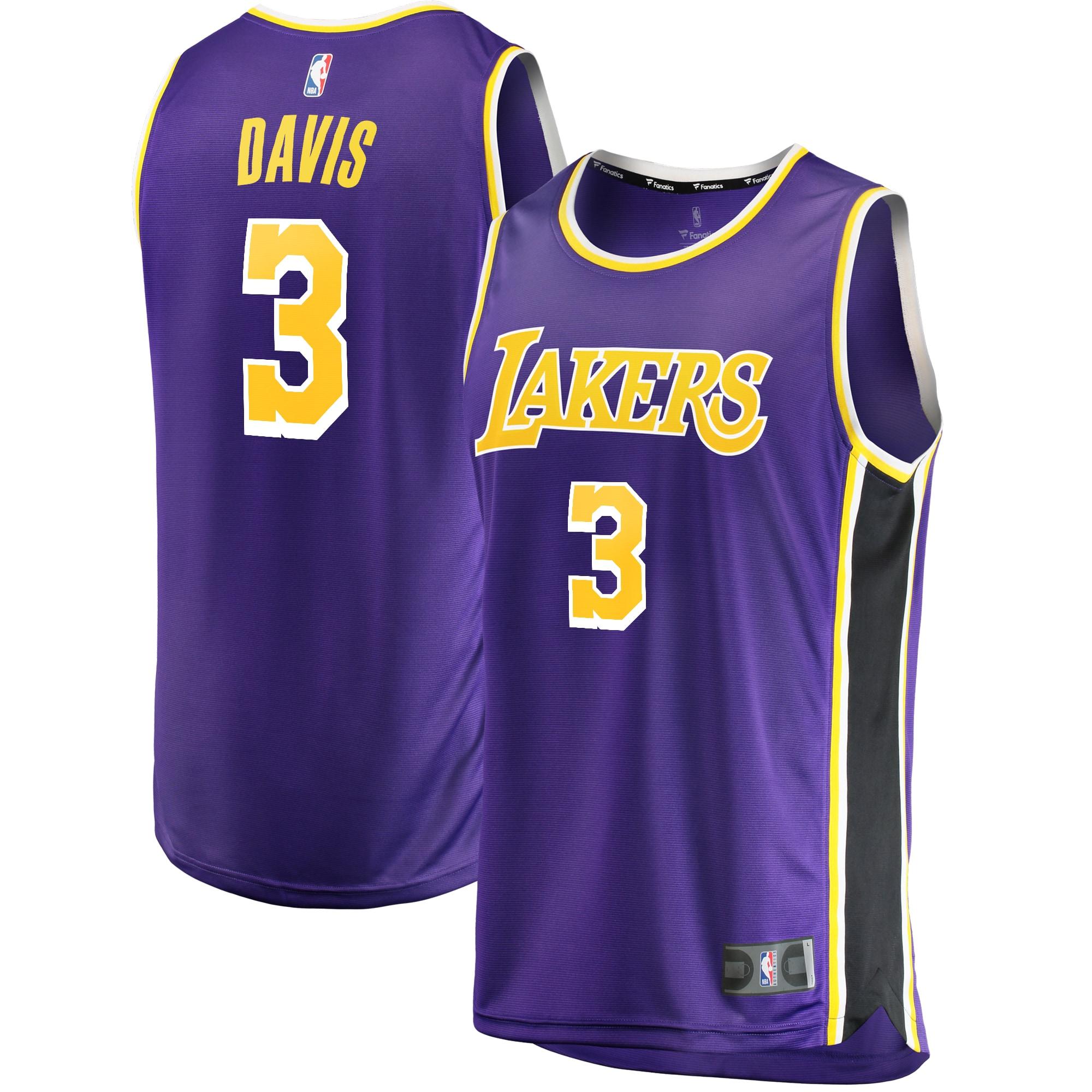 Anthony Davis Los Angeles Lakers Fanatics Branded Youth Fast Break Replica Jersey Purple - Statement Edition