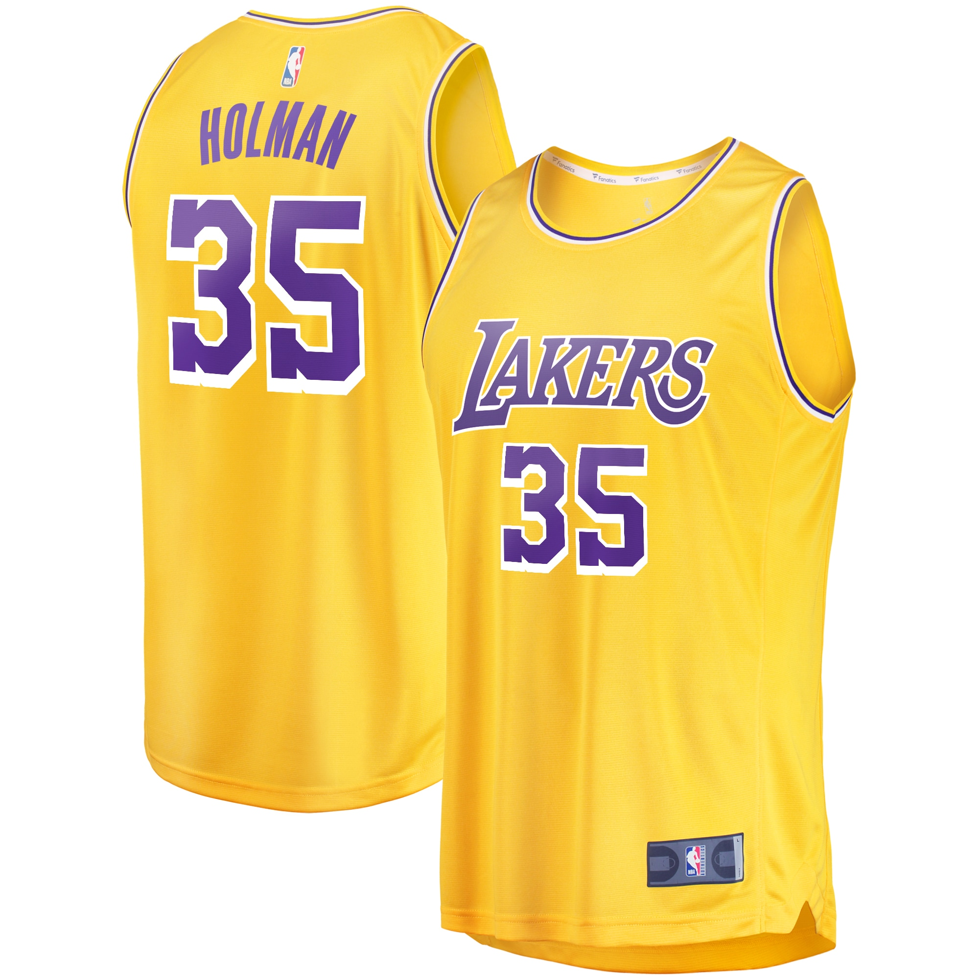 Aric Holman Los Angeles Lakers Fanatics Branded Youth Fast Break Replica Jersey Gold- Icon Edition