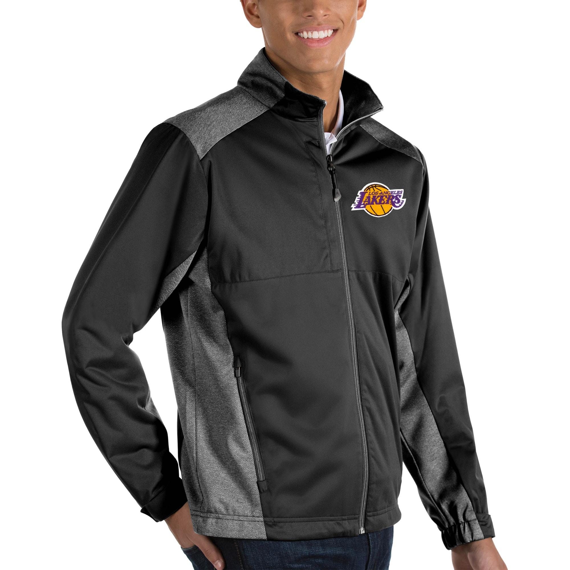 Los Angeles Lakers Antigua Revolve Big & Tall Full-Zip Jacket - Black