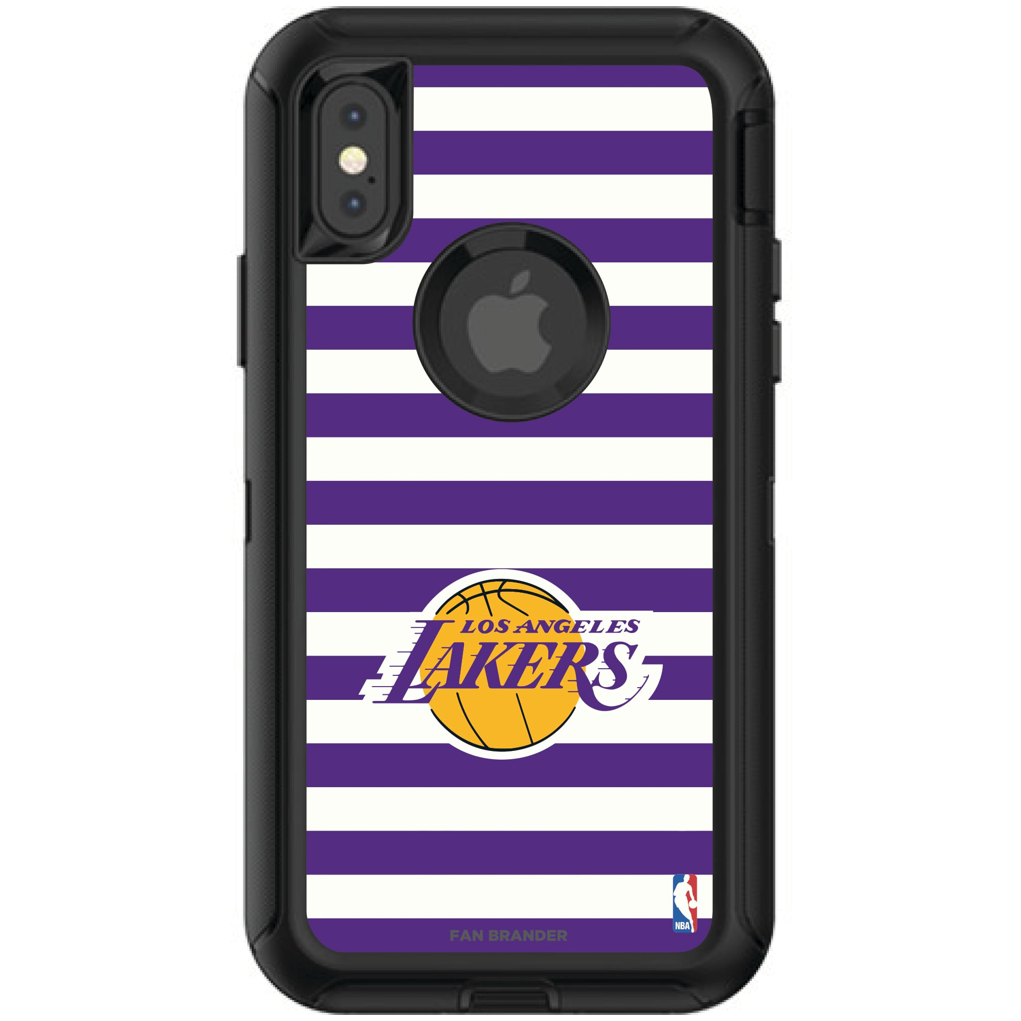 Los Angeles Lakers OtterBox iPhone Defender Striped Design Case