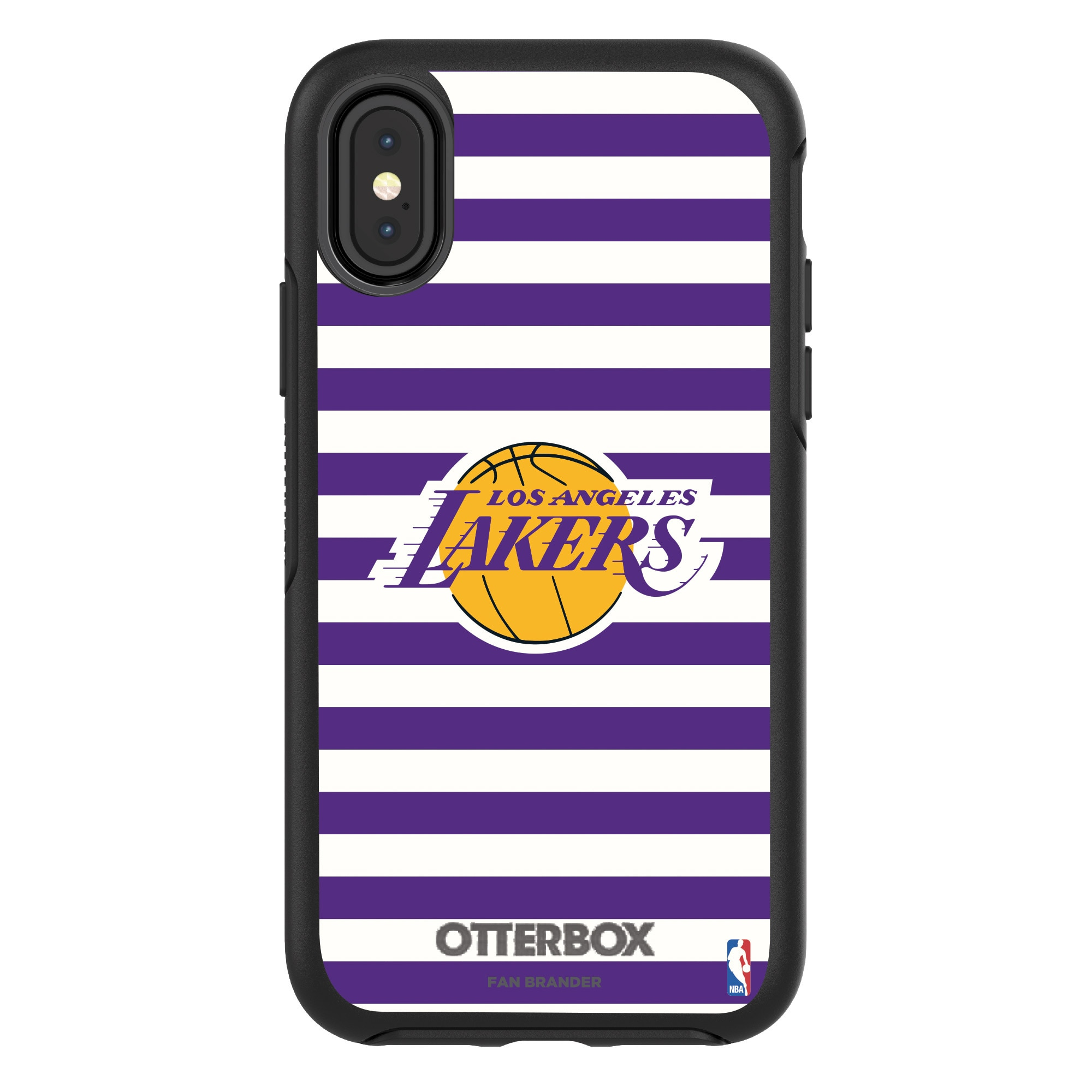 Los Angeles Lakers OtterBox iPhone Symmetry Striped Design Case