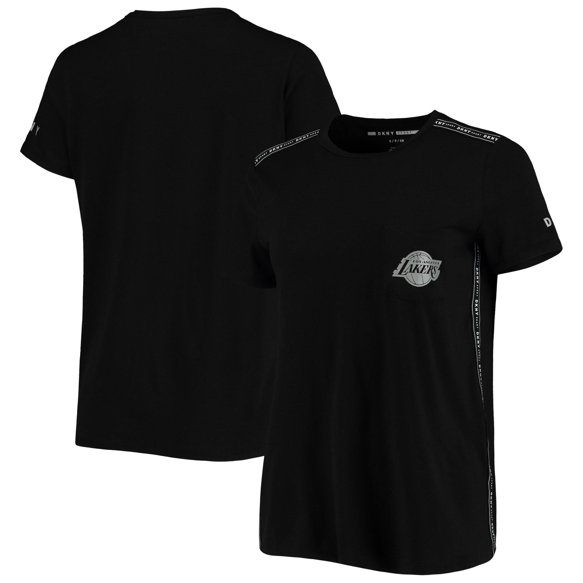 Los Angeles Lakers DKNY Sport Women's Donna Sport Pocket Tri-Blend T-Shirt - Black