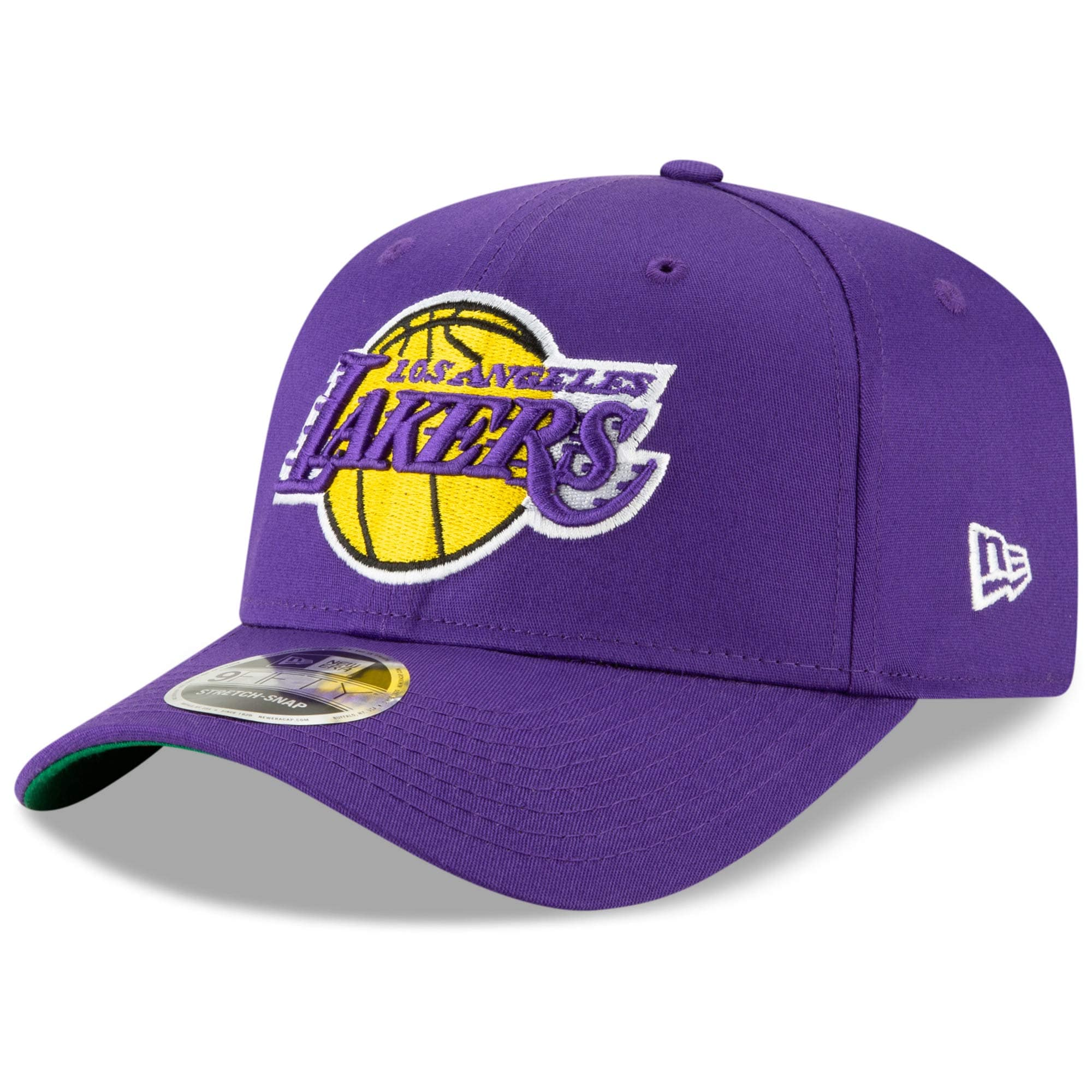 Los Angeles Lakers New Era Team Stretch 9FIFTY Adjustable Snapback Hat - Purple