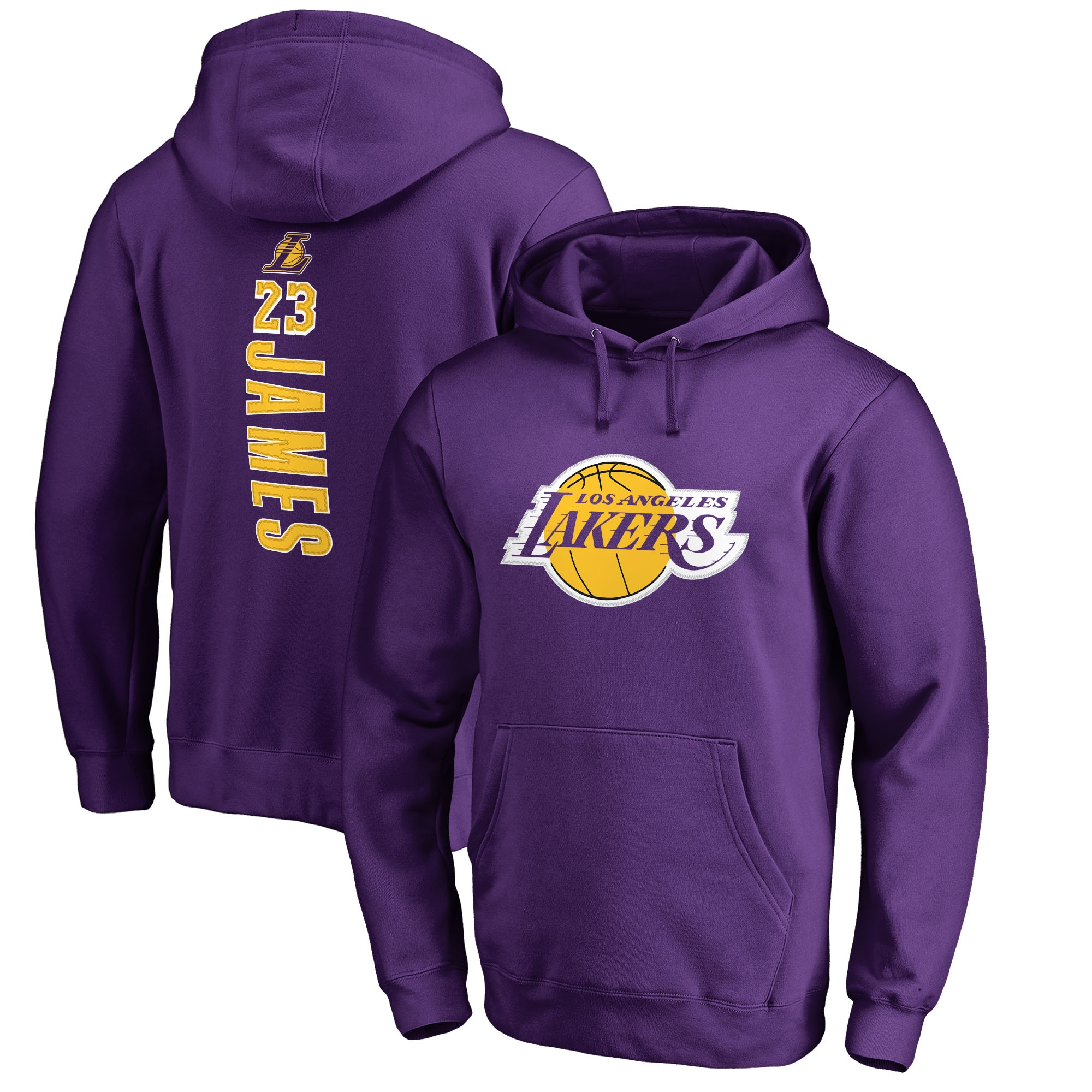 LeBron James Los Angeles Lakers Fanatics Branded Big & Tall Backer Pullover Hoodie - Purple