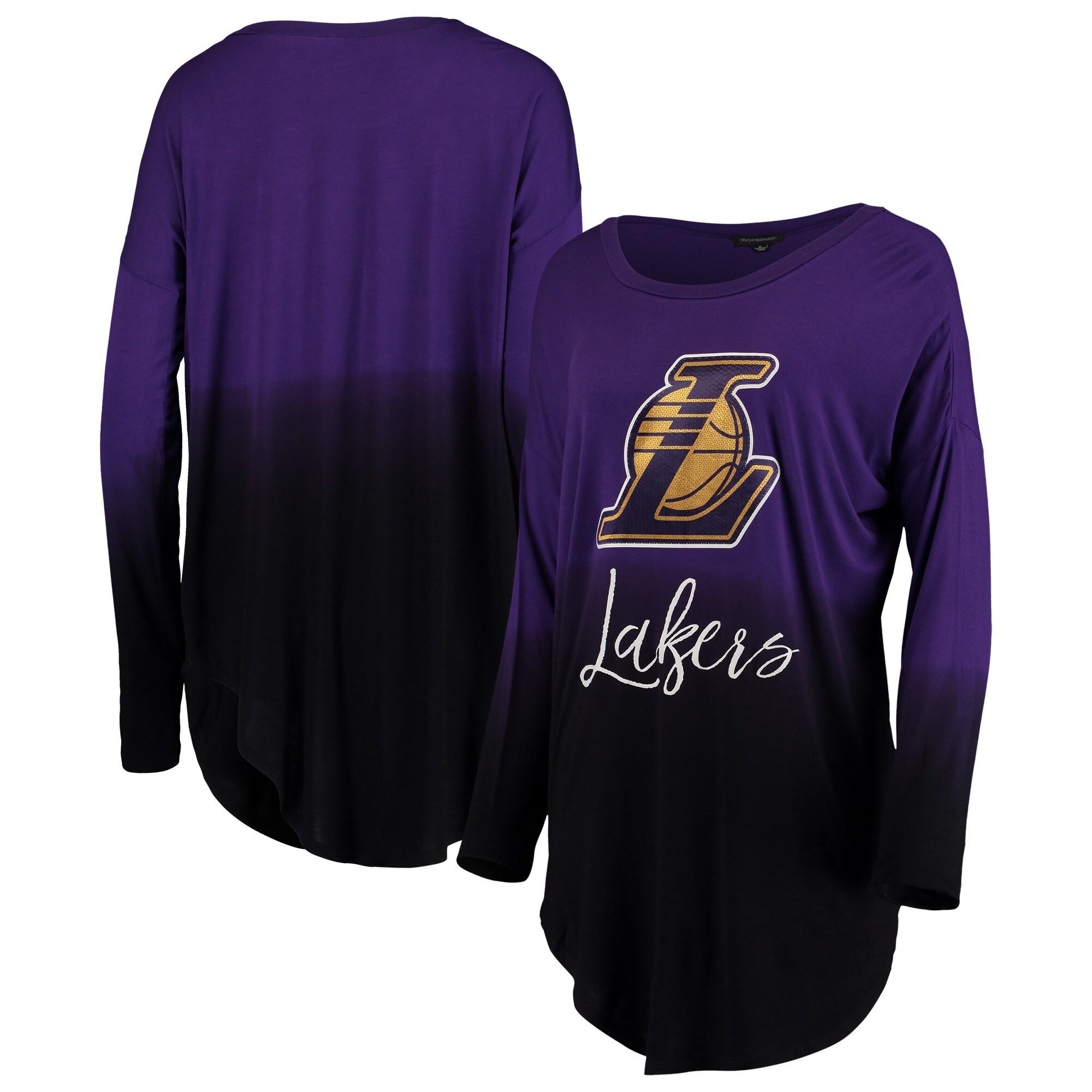 Los Angeles Lakers Women's Own It Ombre Long Sleeve Tunic T-Shirt - Purple