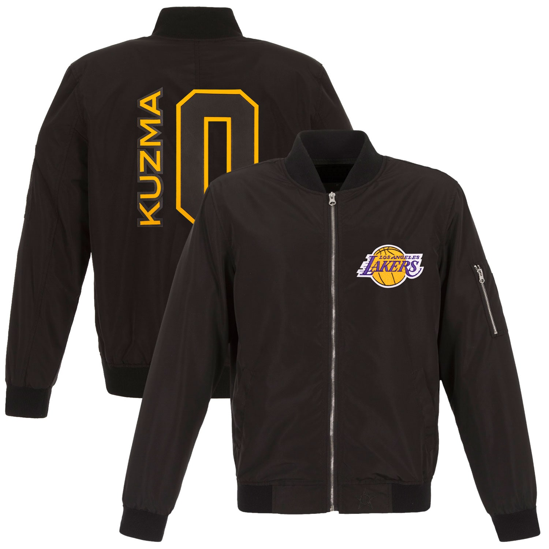 Kyle Kuzma Los Angeles Lakers Fanatics Branded Player Full-Zip Bomber Jacket - Black