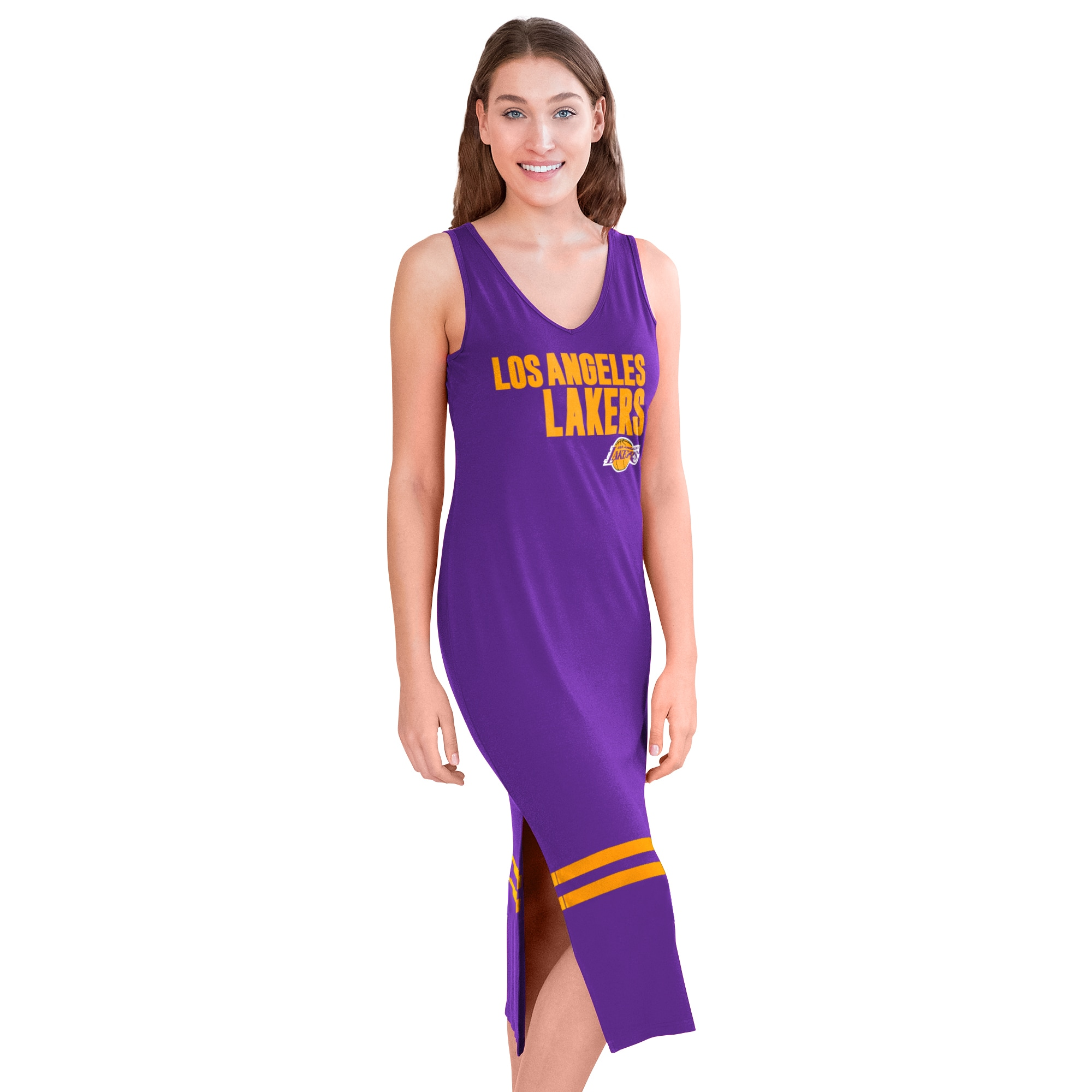 Los Angeles Lakers G-III 4Her by Carl Banks Women's Opening Day Maxi Dress - Purple