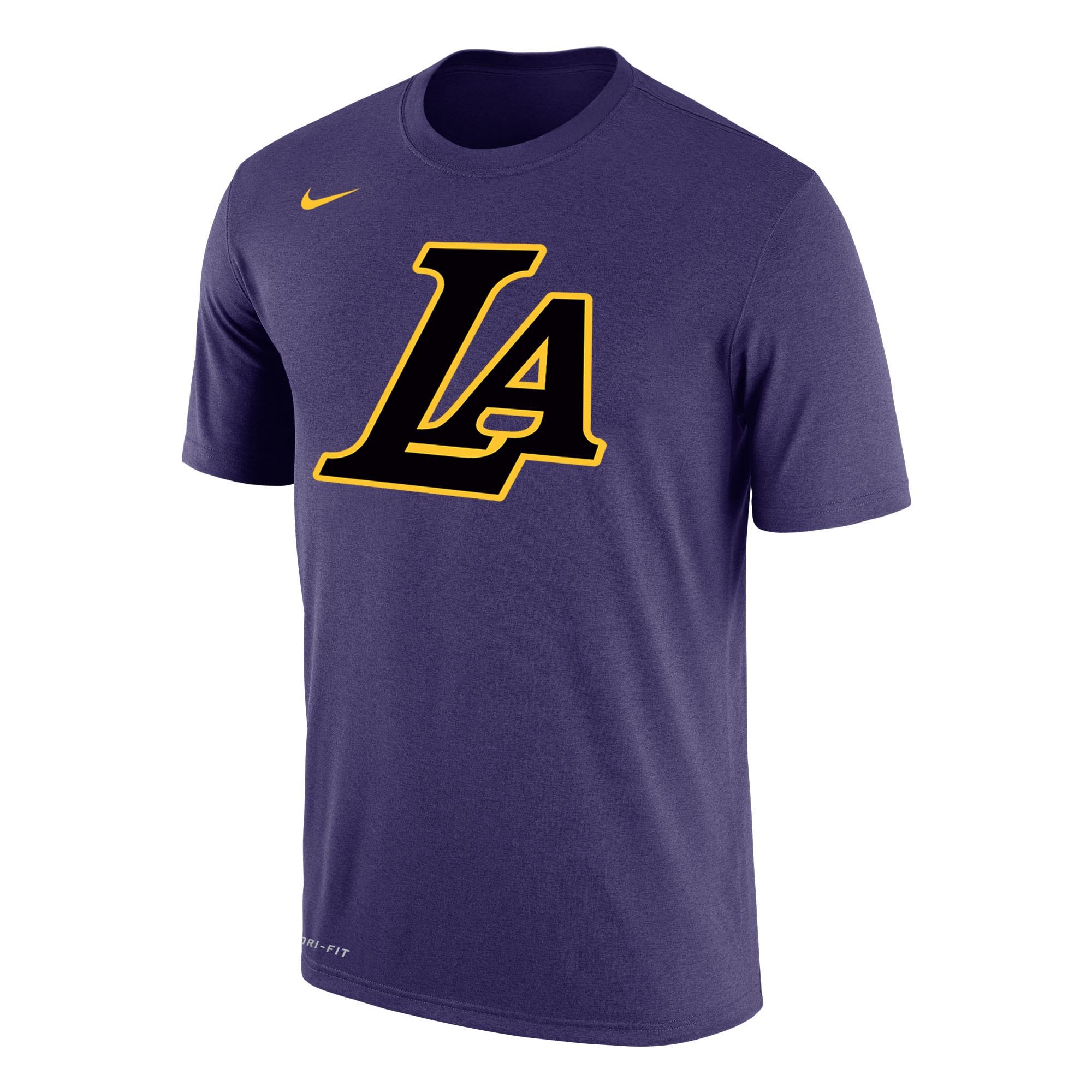 Los Angeles Lakers Nike City Edition Performance T-Shirt - Purple