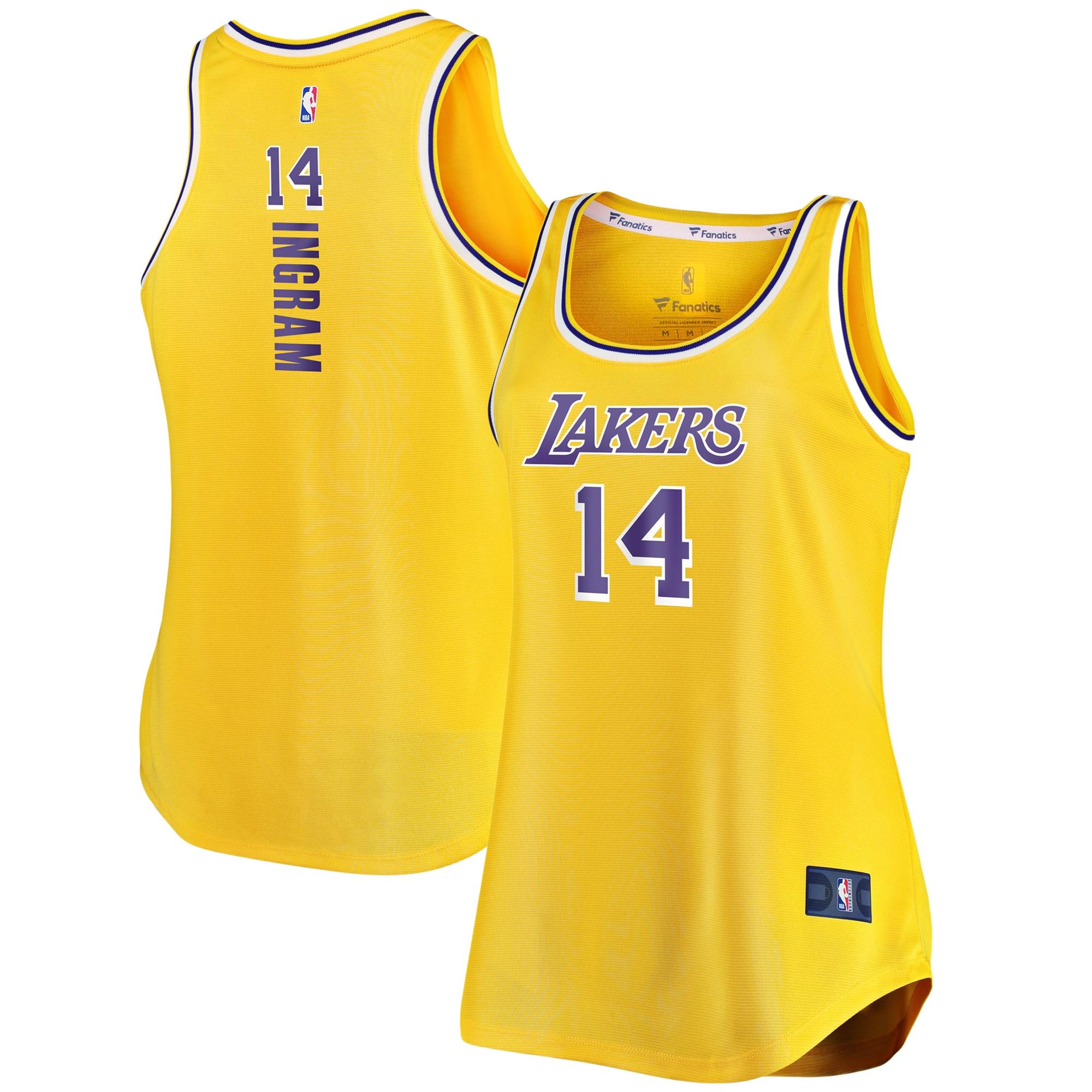 Brandon Ingram Los Angeles Lakers Fanatics Branded Women's Fast Break Tank Jersey - Icon Edition - Gold