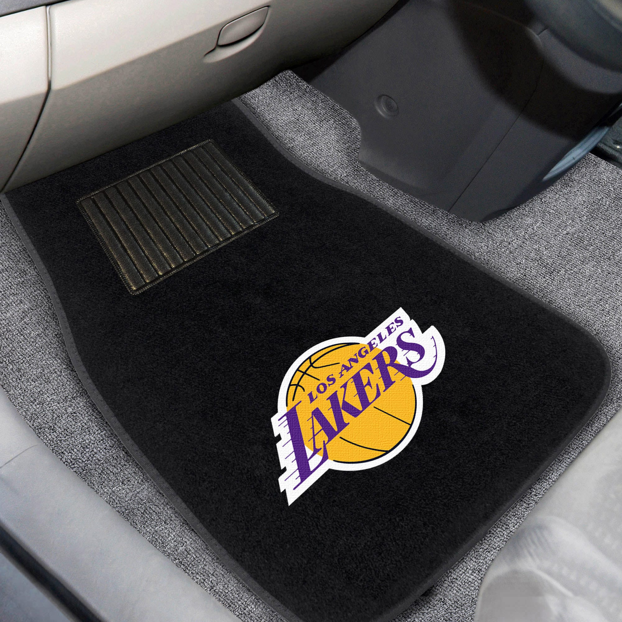 Los Angeles Lakers 2-Piece Embroidered Car Mat Set