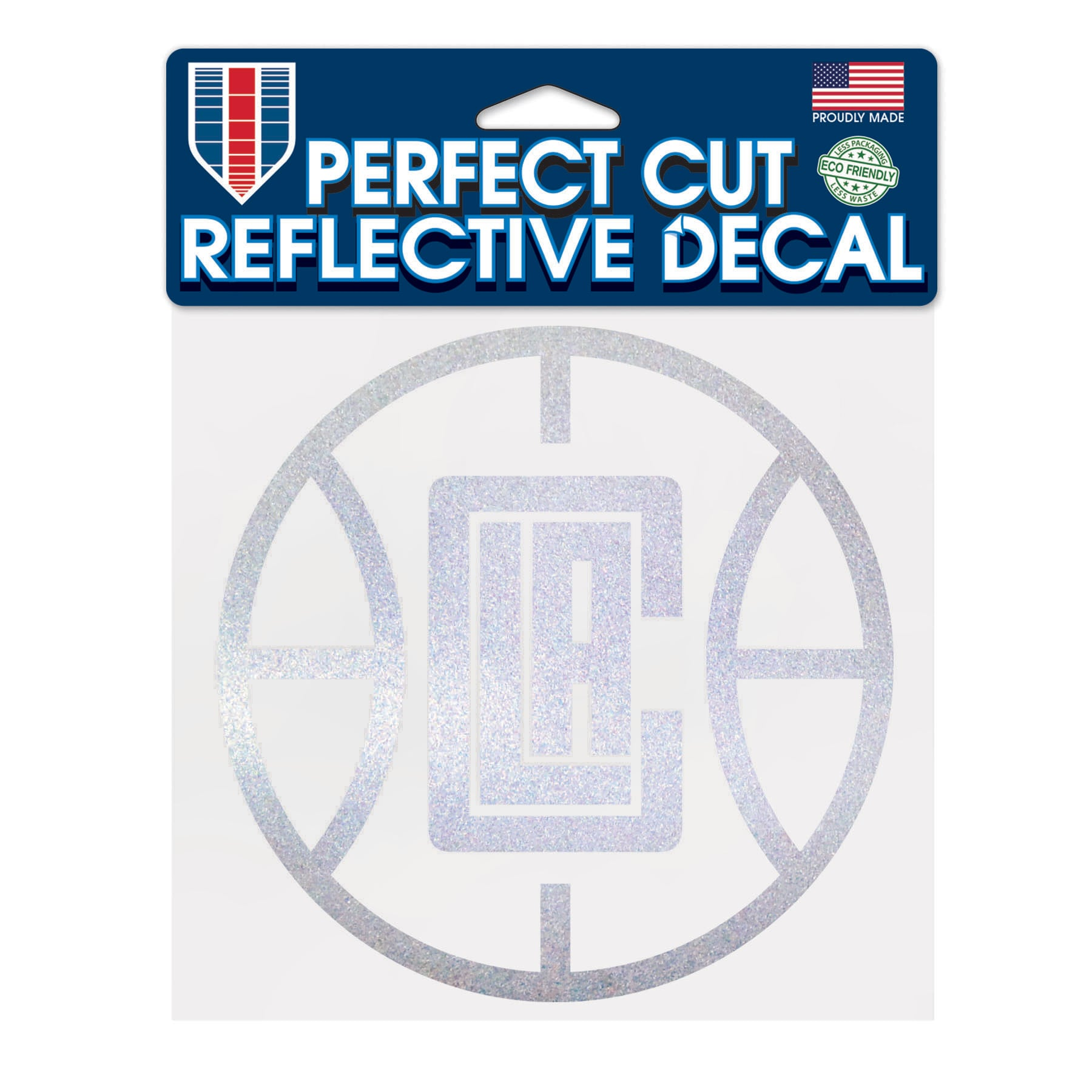 "LA Clippers WinCraft 6"" x 6"" Reflective Perfect Cut Decal"