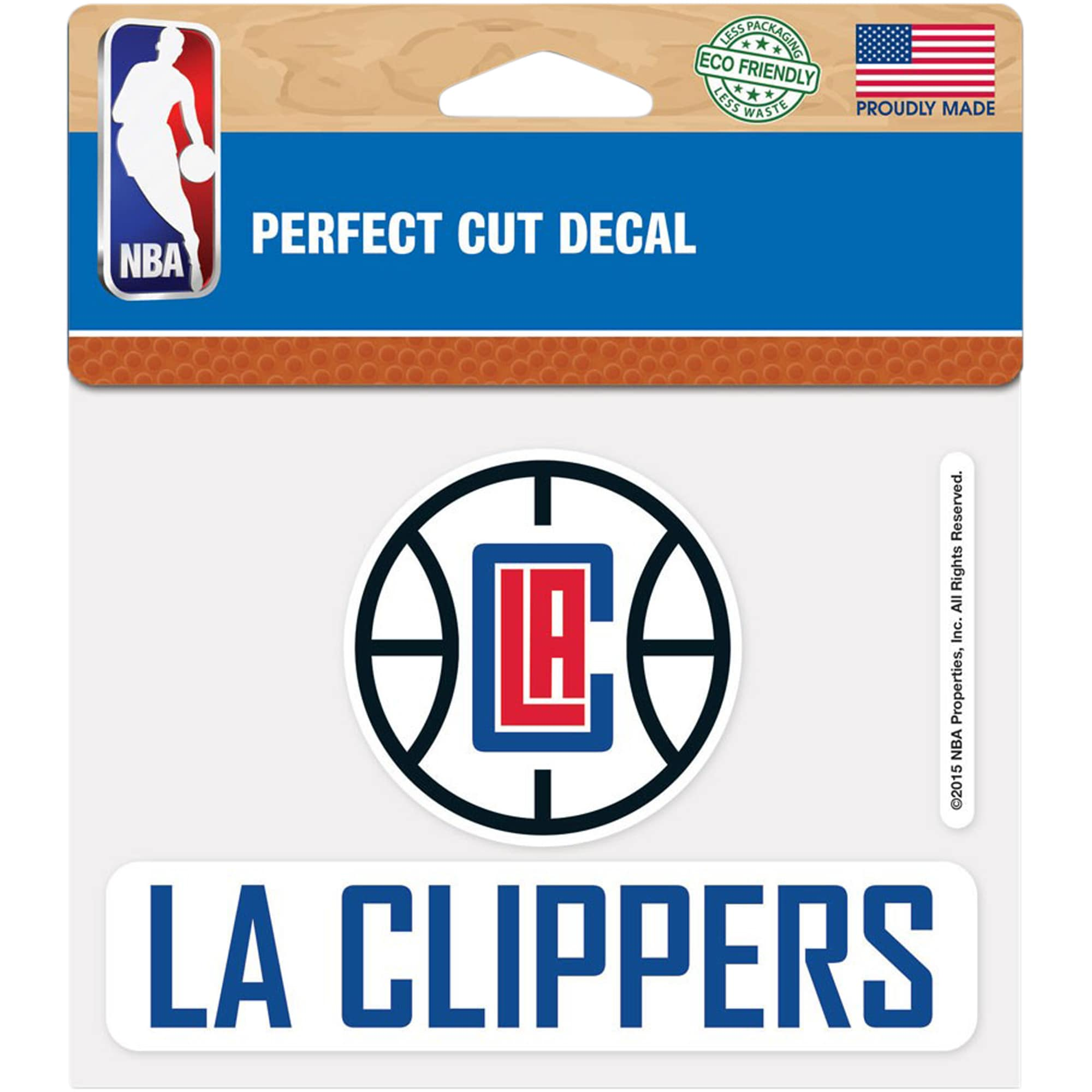 "LA Clippers WinCraft 4"" x 5"" Perfect Cut Decal -"
