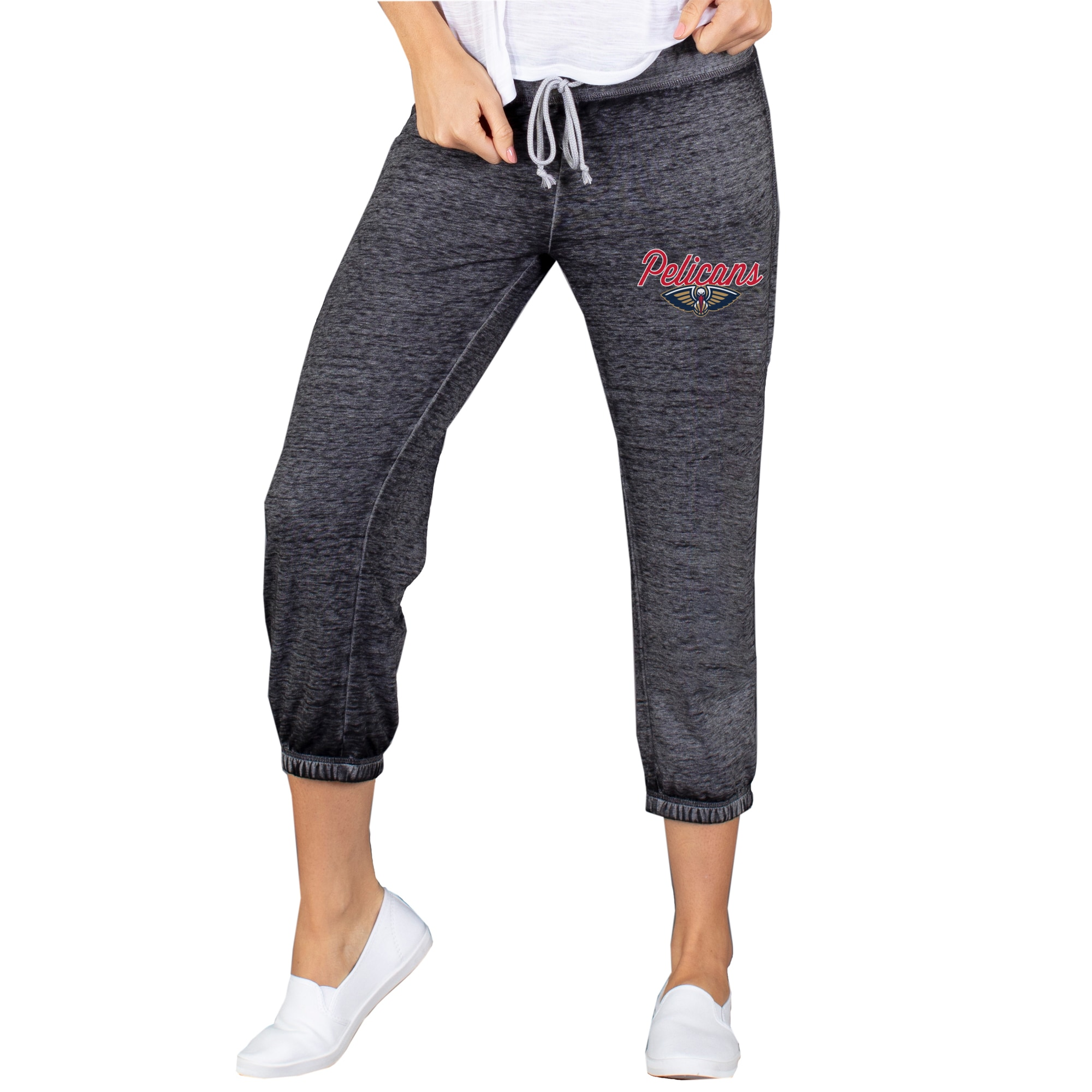 New Orleans Pelicans Concepts Sport Women's Capri Knit Lounge Pants - Charcoal