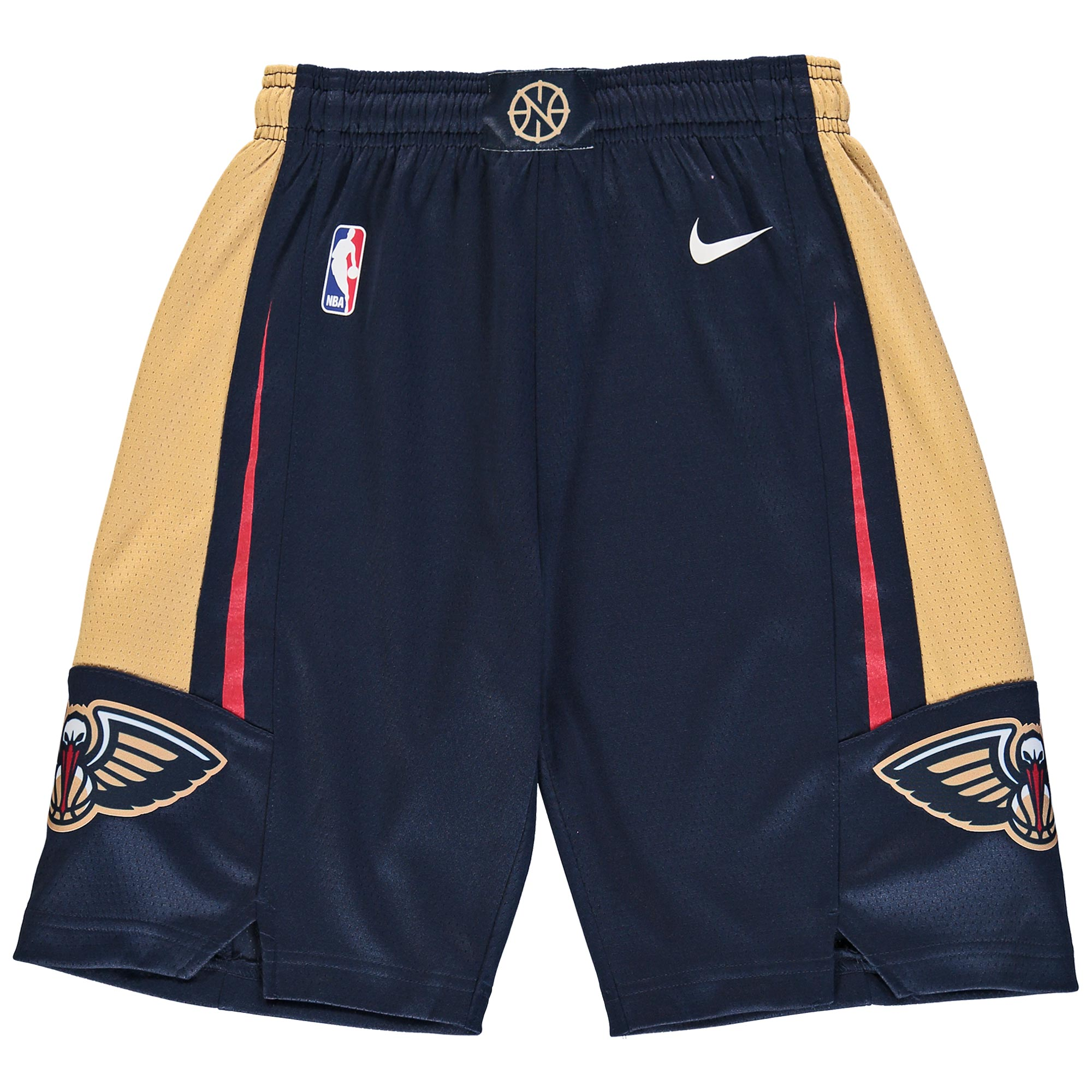 New Orleans Pelicans Nike Youth Swingman Icon Performance Shorts - Navy/Gold