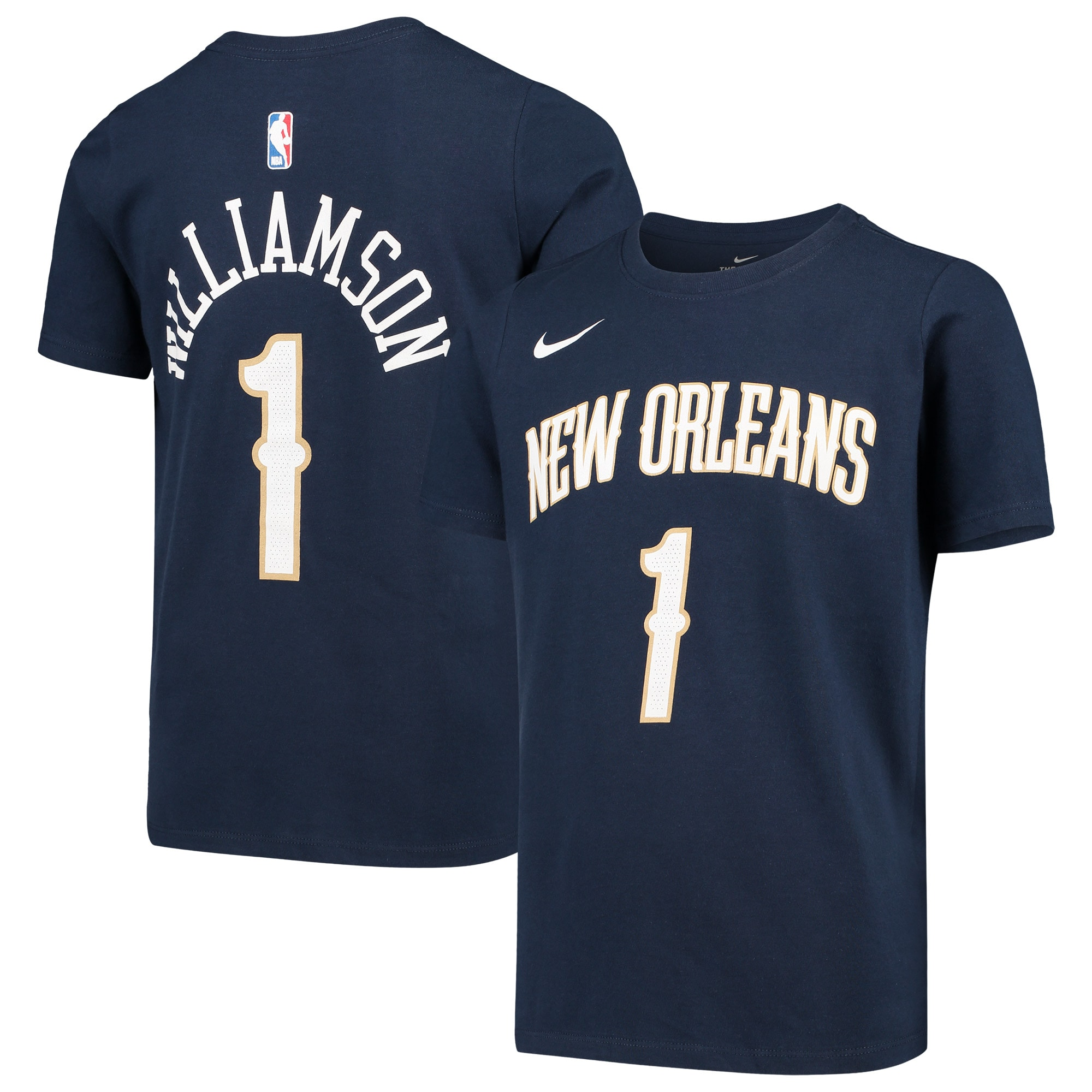 Zion Williamson New Orleans Pelicans Nike Youth Name & Number Performance T-Shirt - Navy