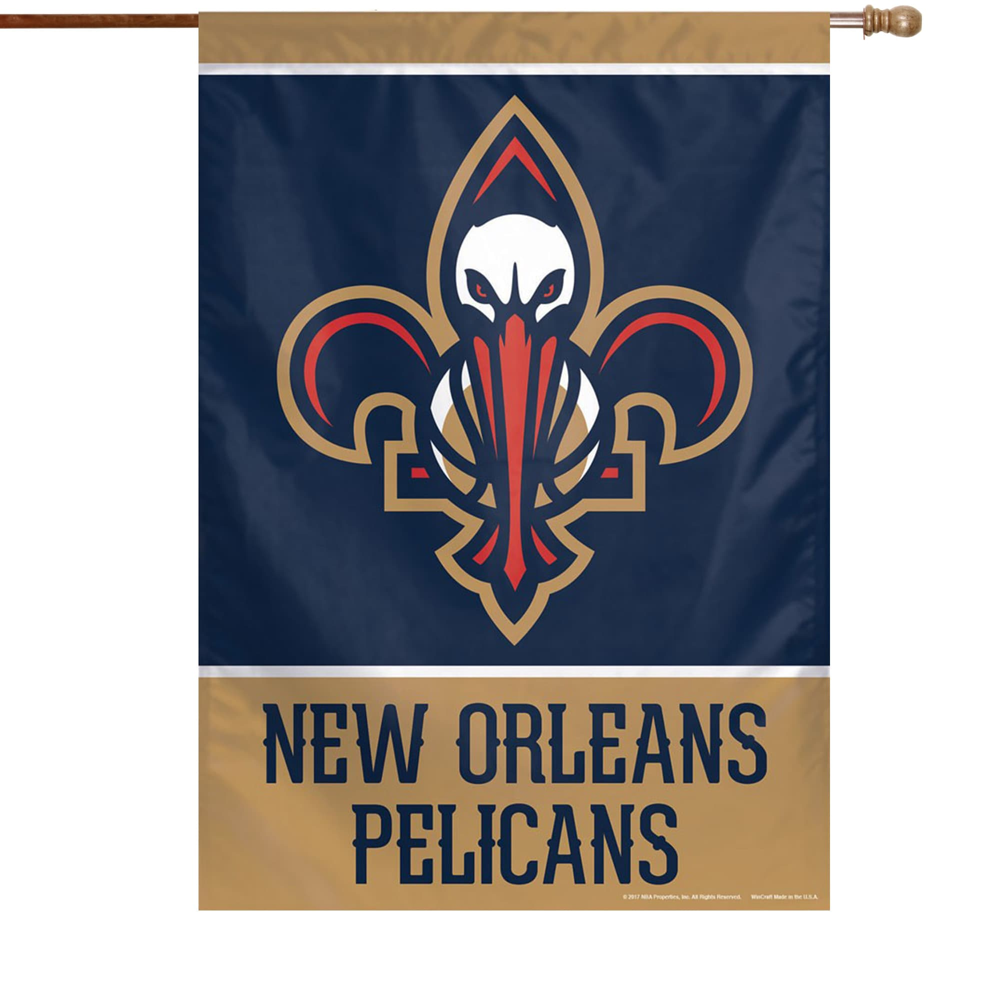 """New Orleans Pelicans WinCraft 28"""" x 40"""" Primary Logo Single-Sided Vertical Banner"""