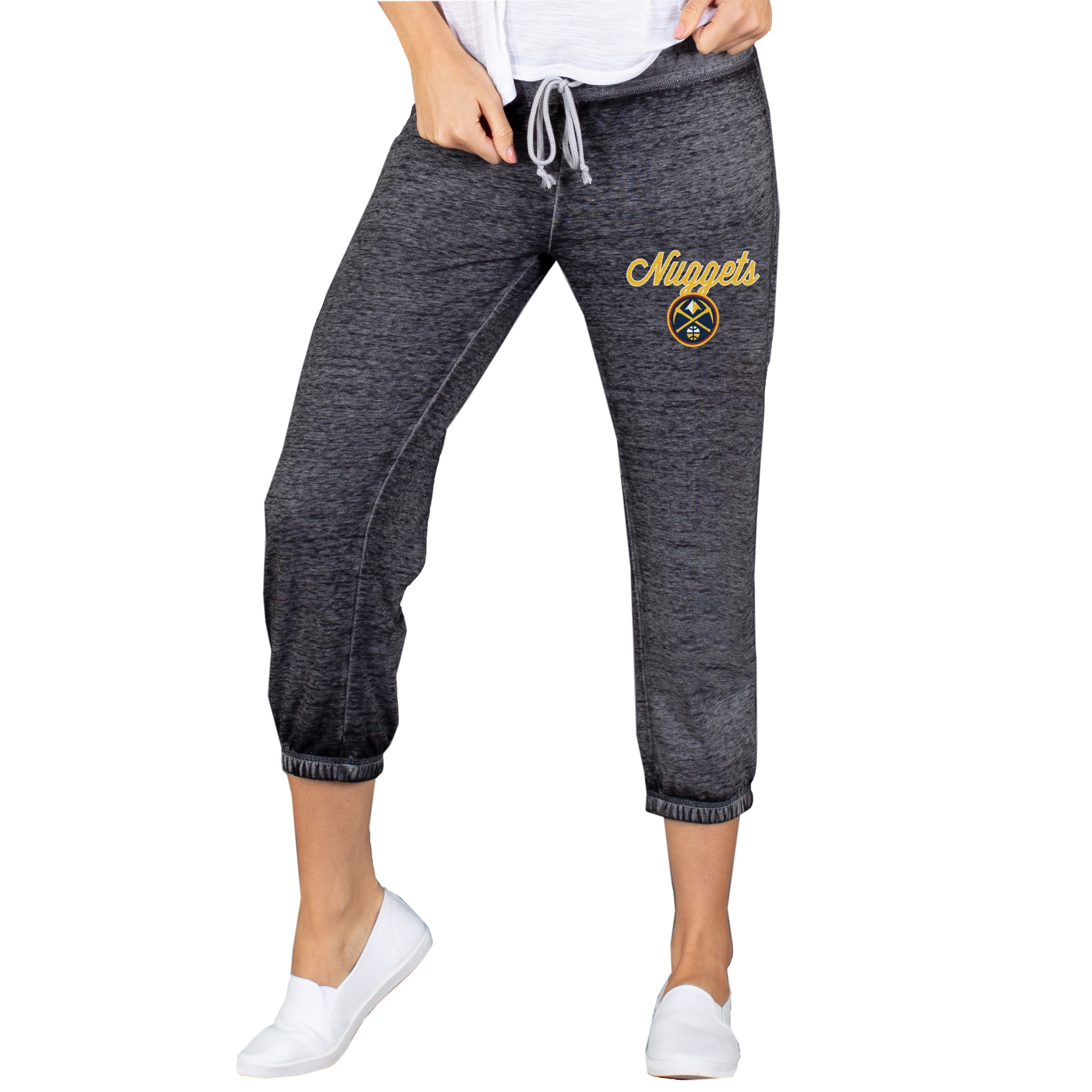 Denver Nuggets Concepts Sport Women's Capri Knit Lounge Pants - Charcoal