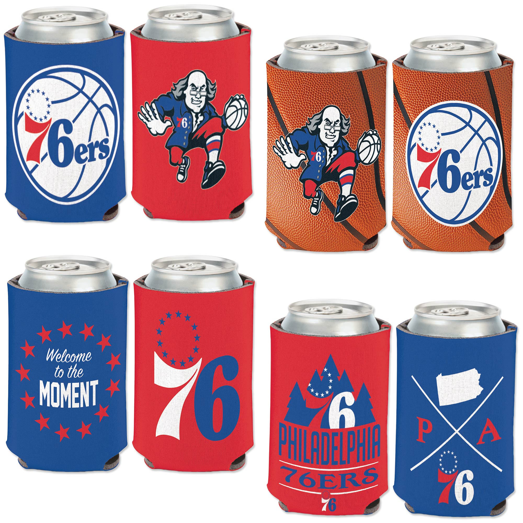 Philadelphia 76ers WinCraft Four-Pack 12 oz. Can Cooler Set