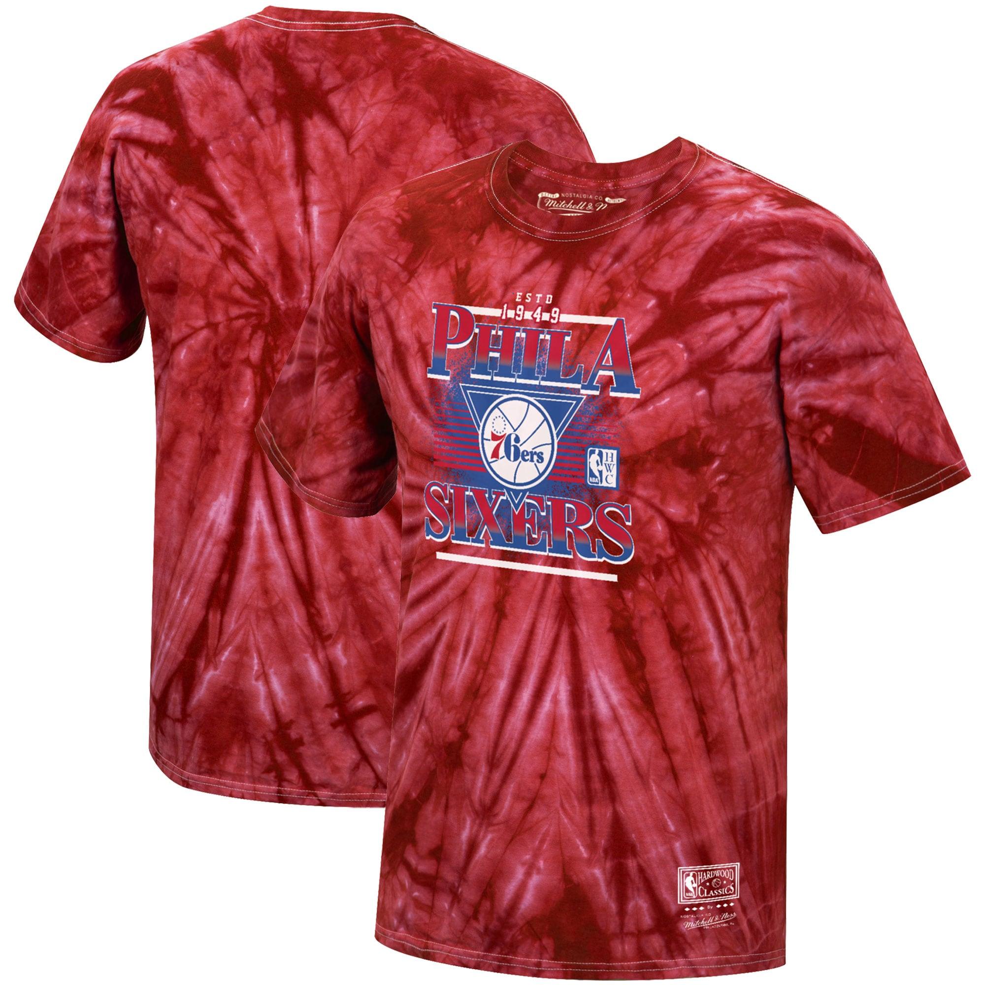 Philadelphia 76ers Mitchell & Ness Hardwood Classics Elevate Playoff T-Shirt - Red