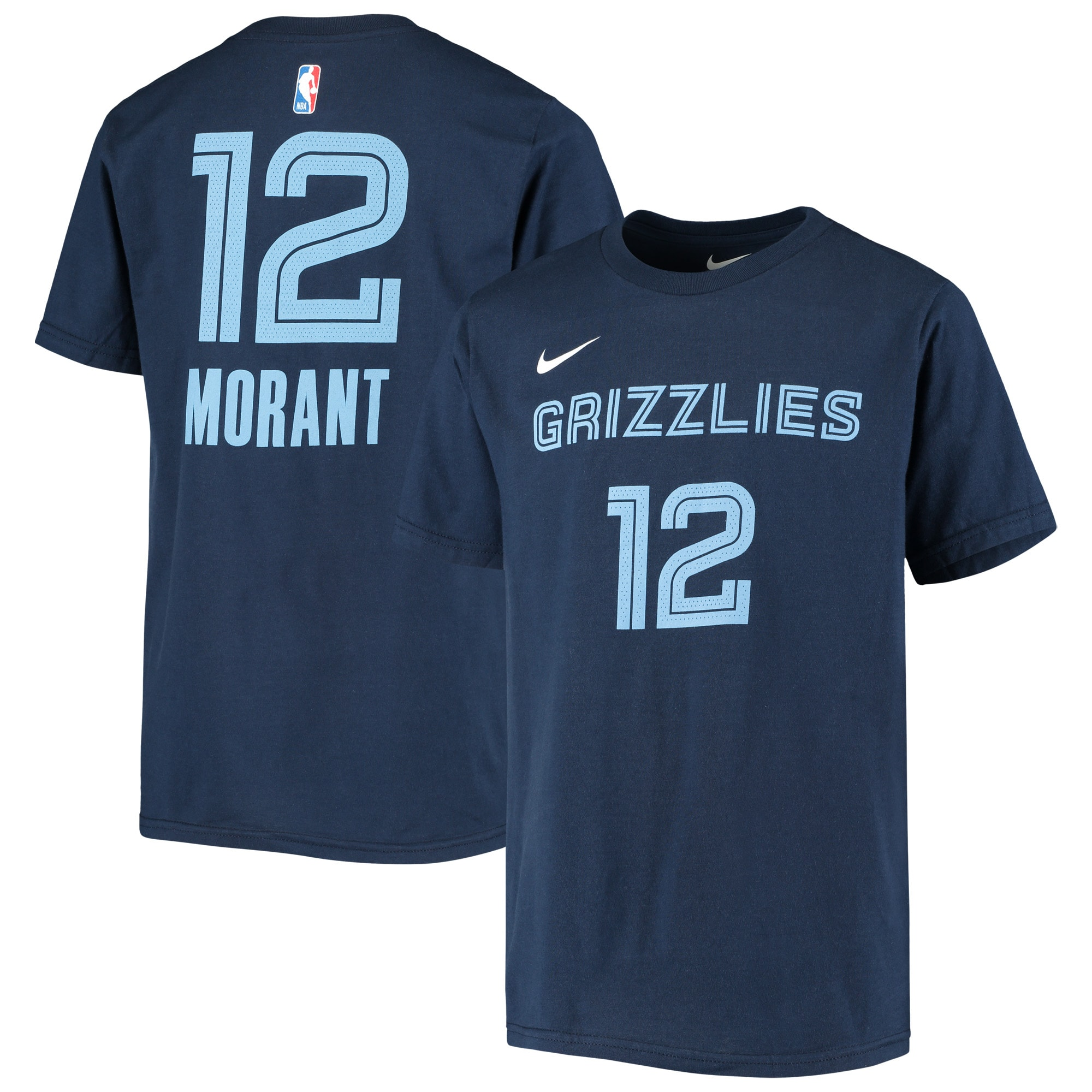 Ja Morant Memphis Grizzlies Nike Youth Icon Name & Number T-Shirt - Navy