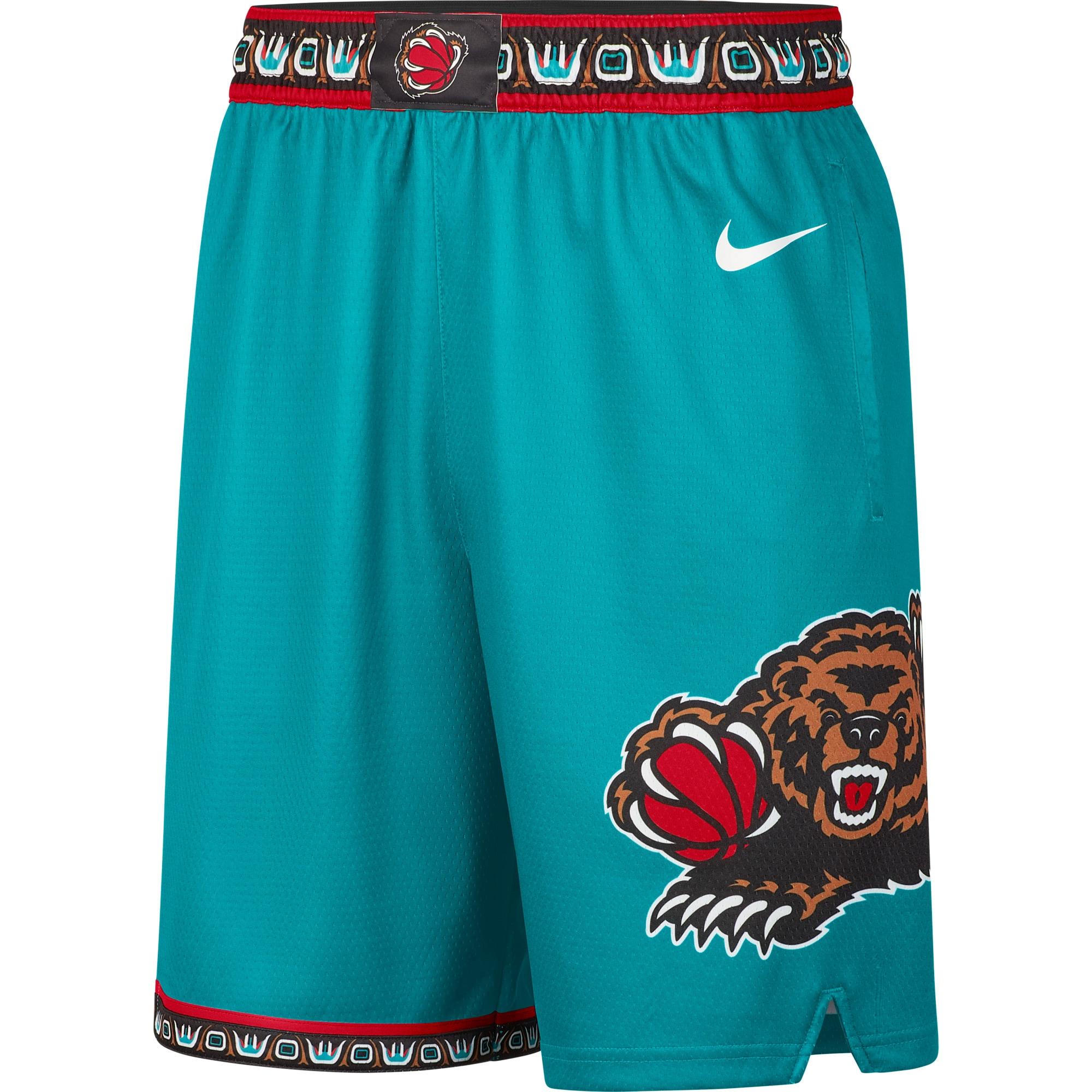 Memphis Grizzlies Nike Hardwood Classics Swingman Shorts - Teal