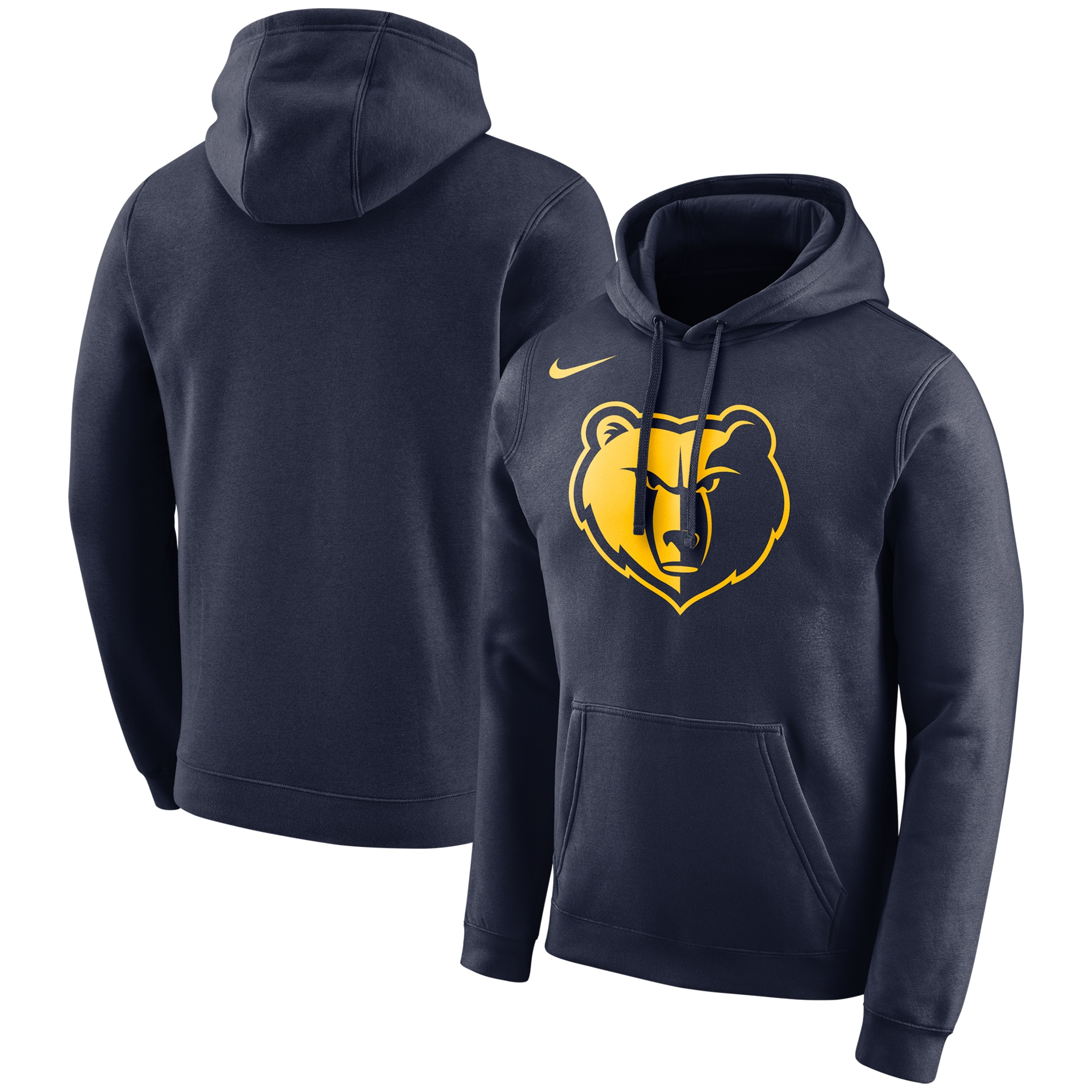 Memphis Grizzlies Nike City Edition Logo Essential Pullover Hoodie - Navy