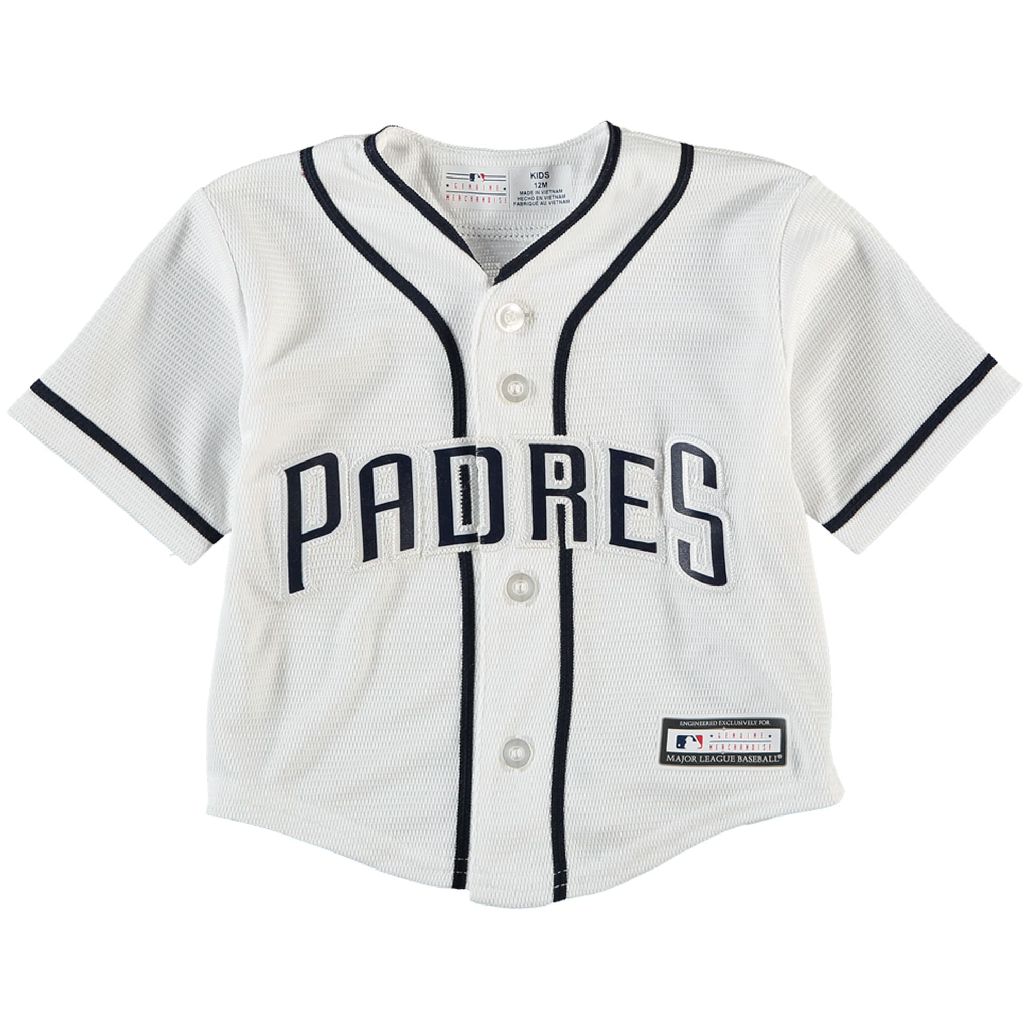 San Diego Padres Newborn & Infant Official Cool Base Jersey - White