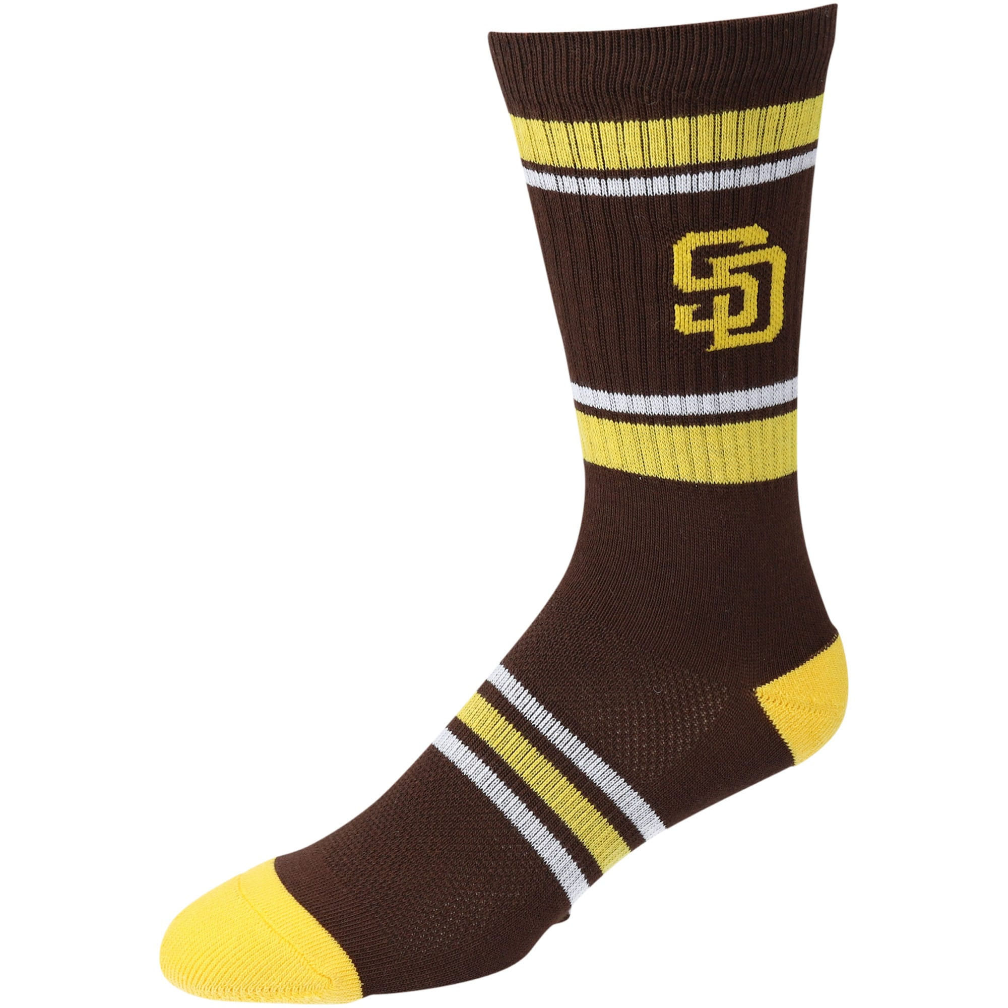 San Diego Padres Stripe Team Crew Socks - Brown