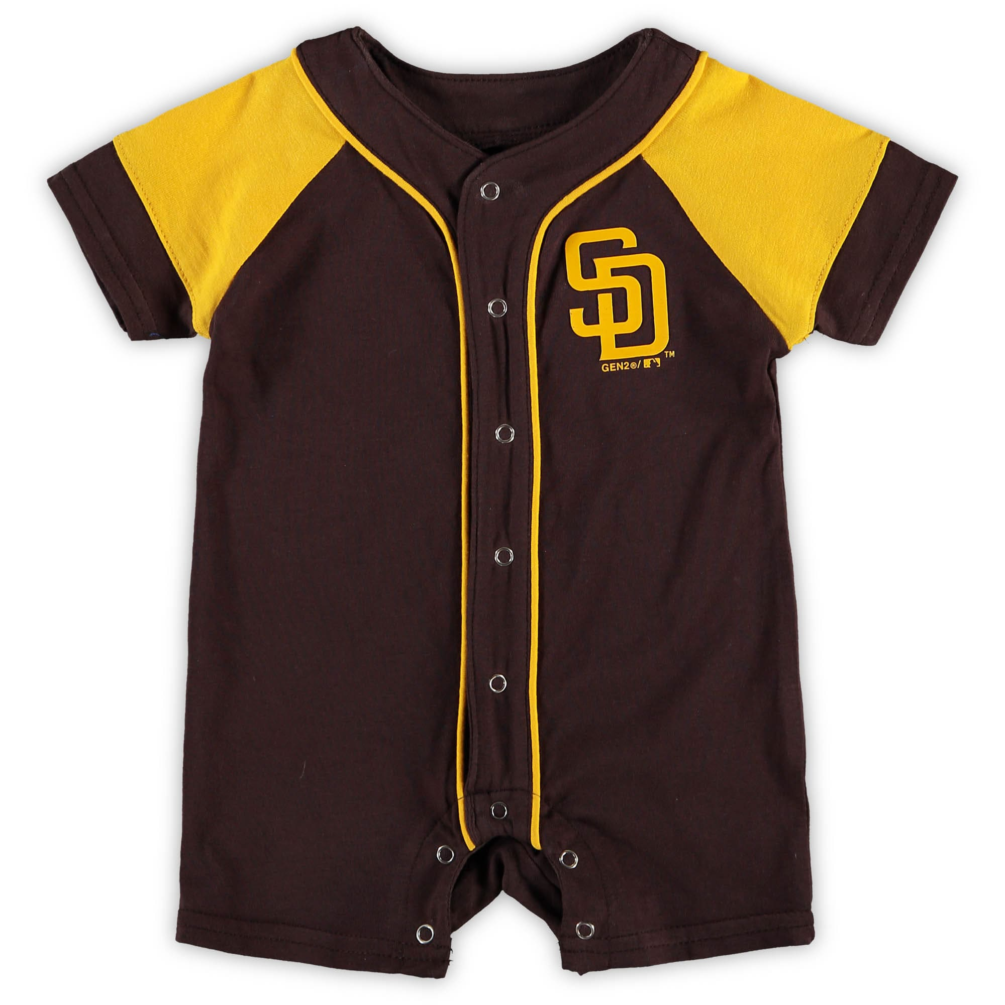 San Diego Padres Newborn & Infant Little Slugger Romper - Brown
