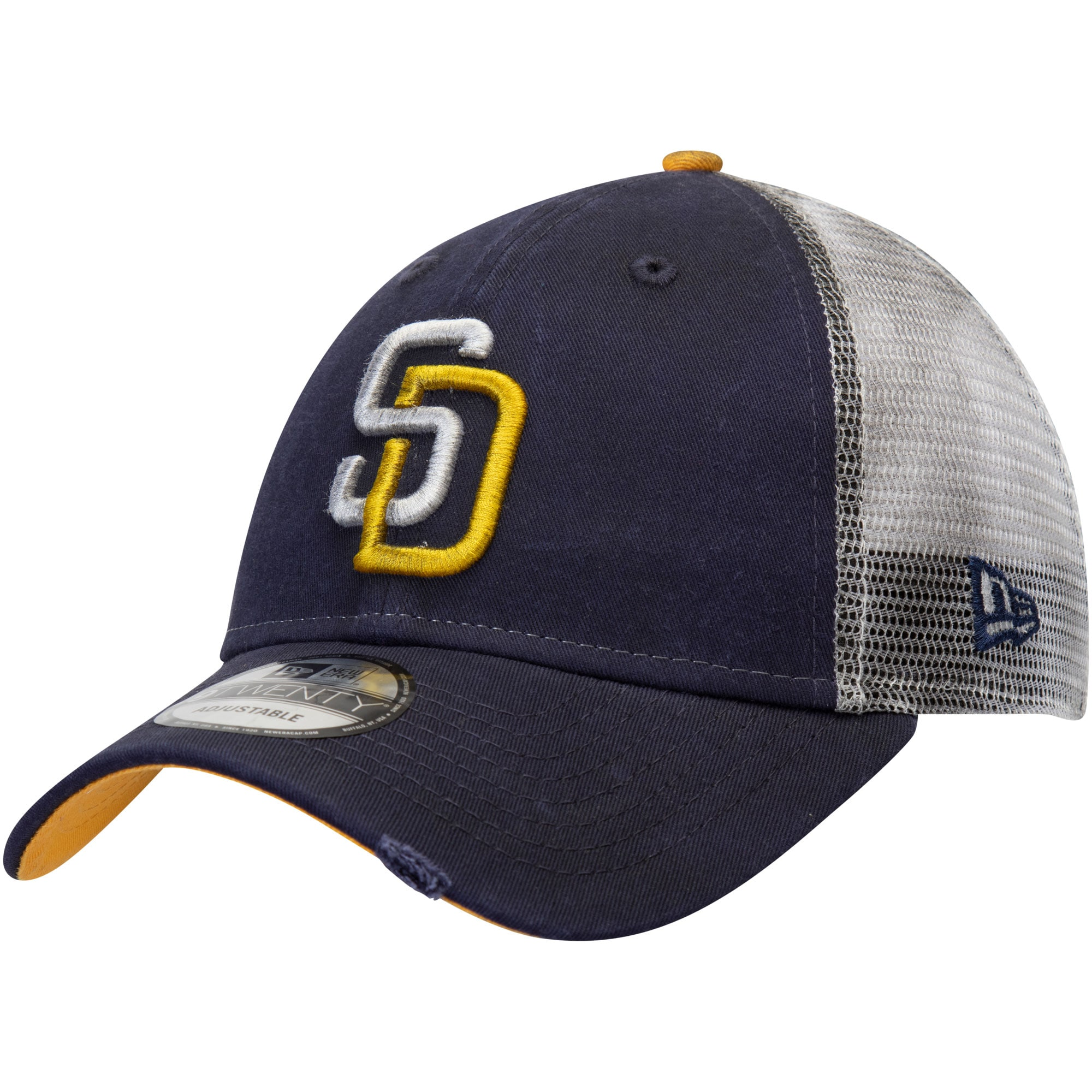 San Diego Padres New Era Team Rustic 9TWENTY Adjustable Hat - Navy