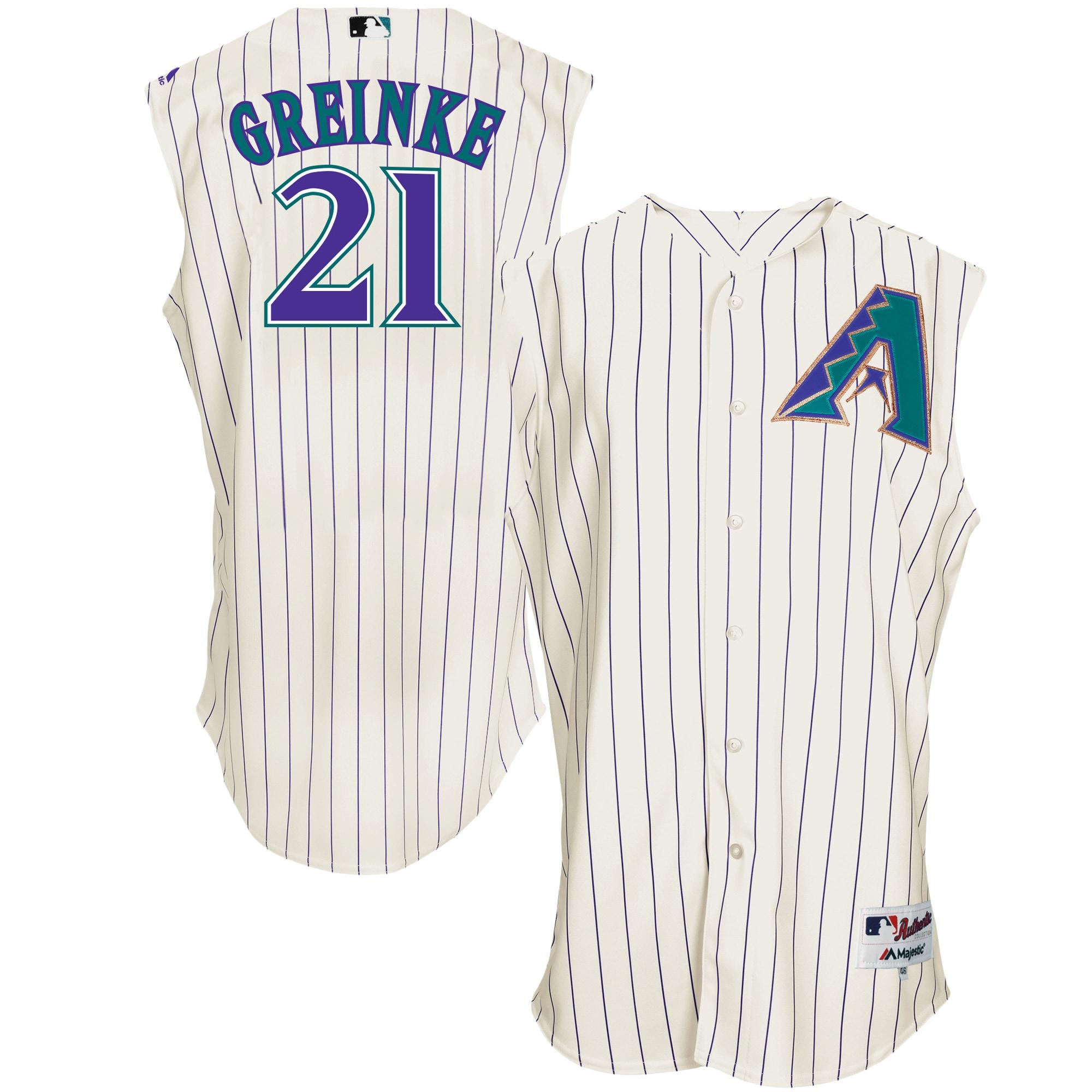 Zack Greinke Arizona Diamondbacks Majestic Turn Back the Clock Authentic Player Jersey - White