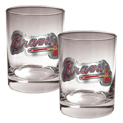 Atlanta Braves 14oz. Rocks Glass Set