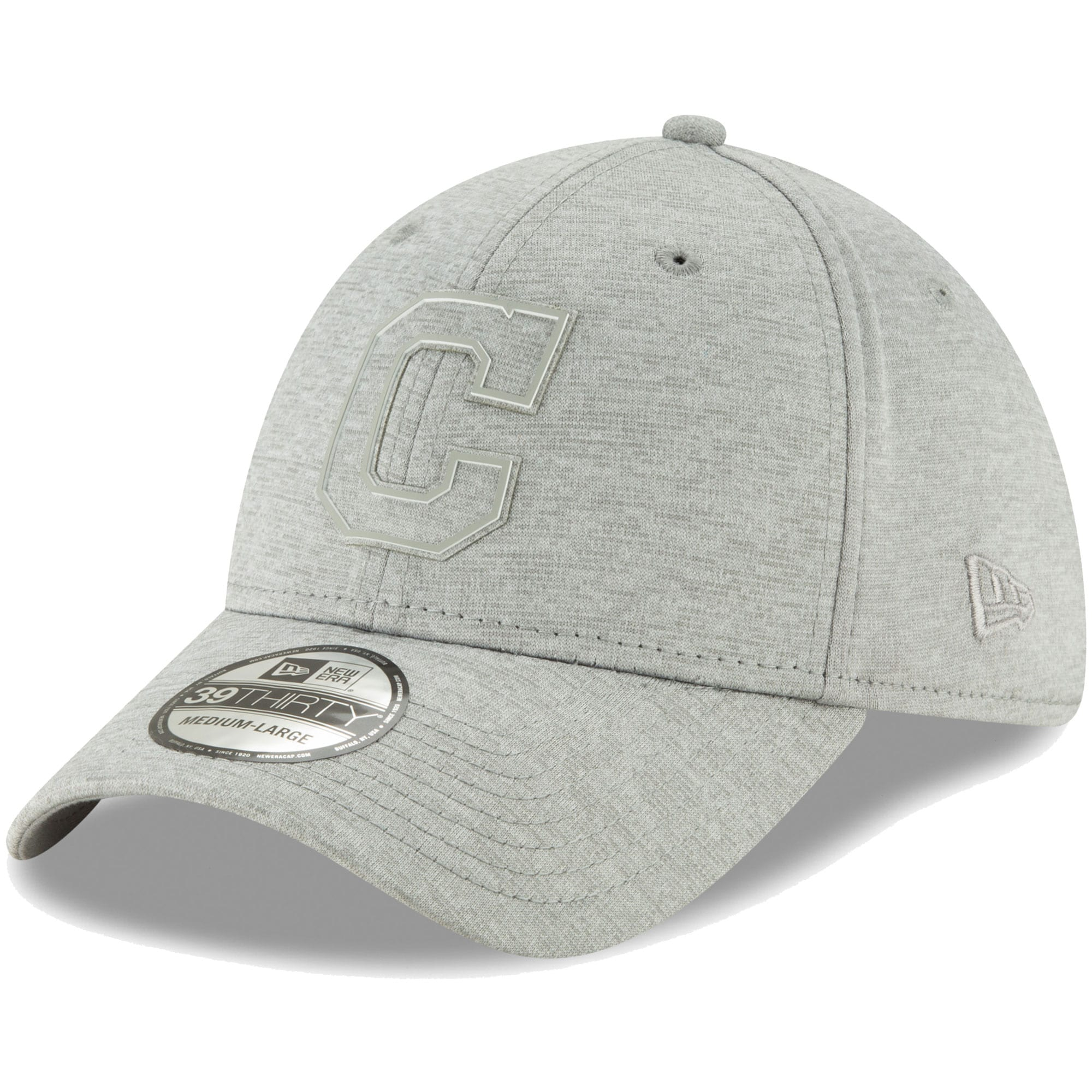 Cleveland Indians New Era Logo Shade 39THIRTY Flex Hat - Gray