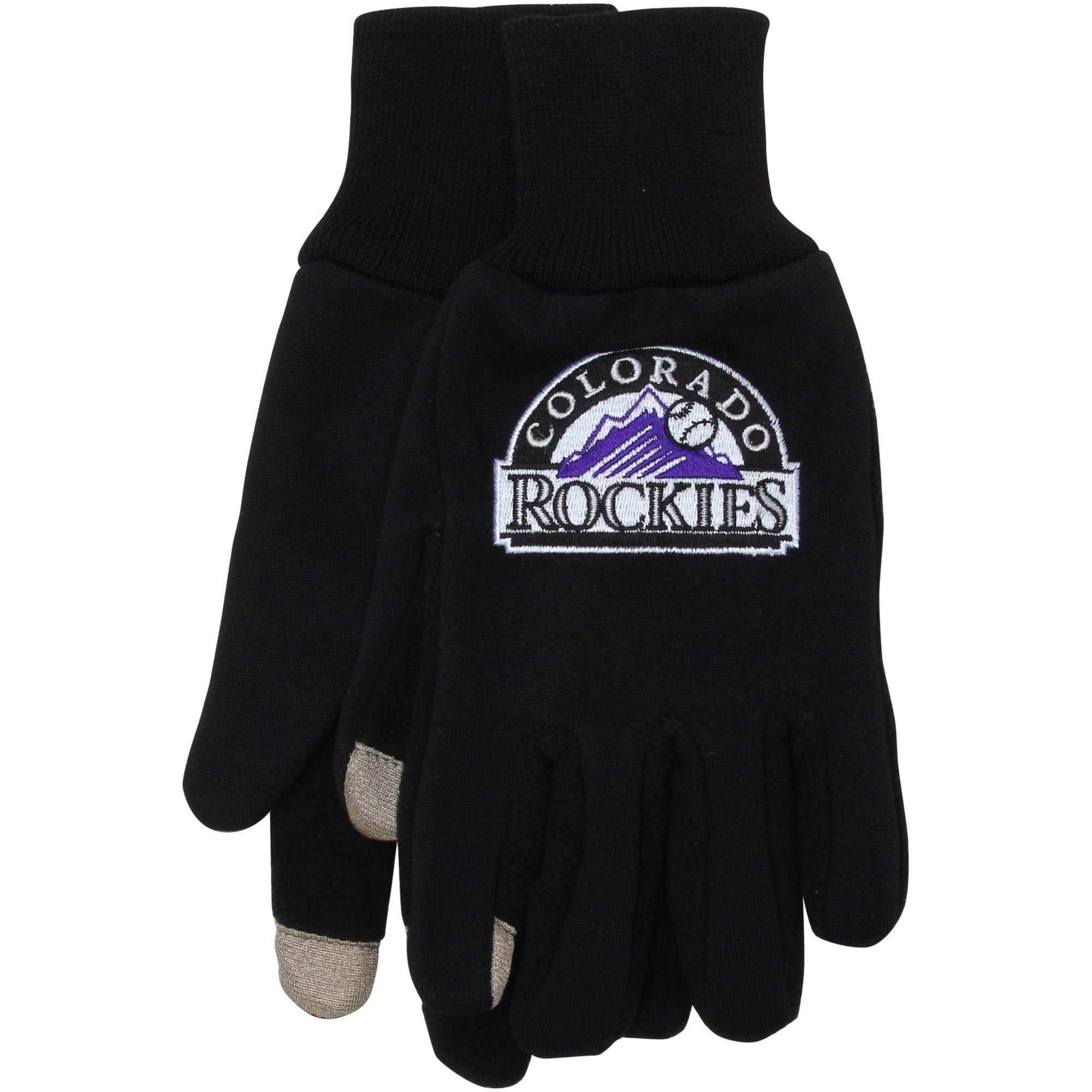 Colorado Rockies McArthur Team Logo Touch Gloves - Black