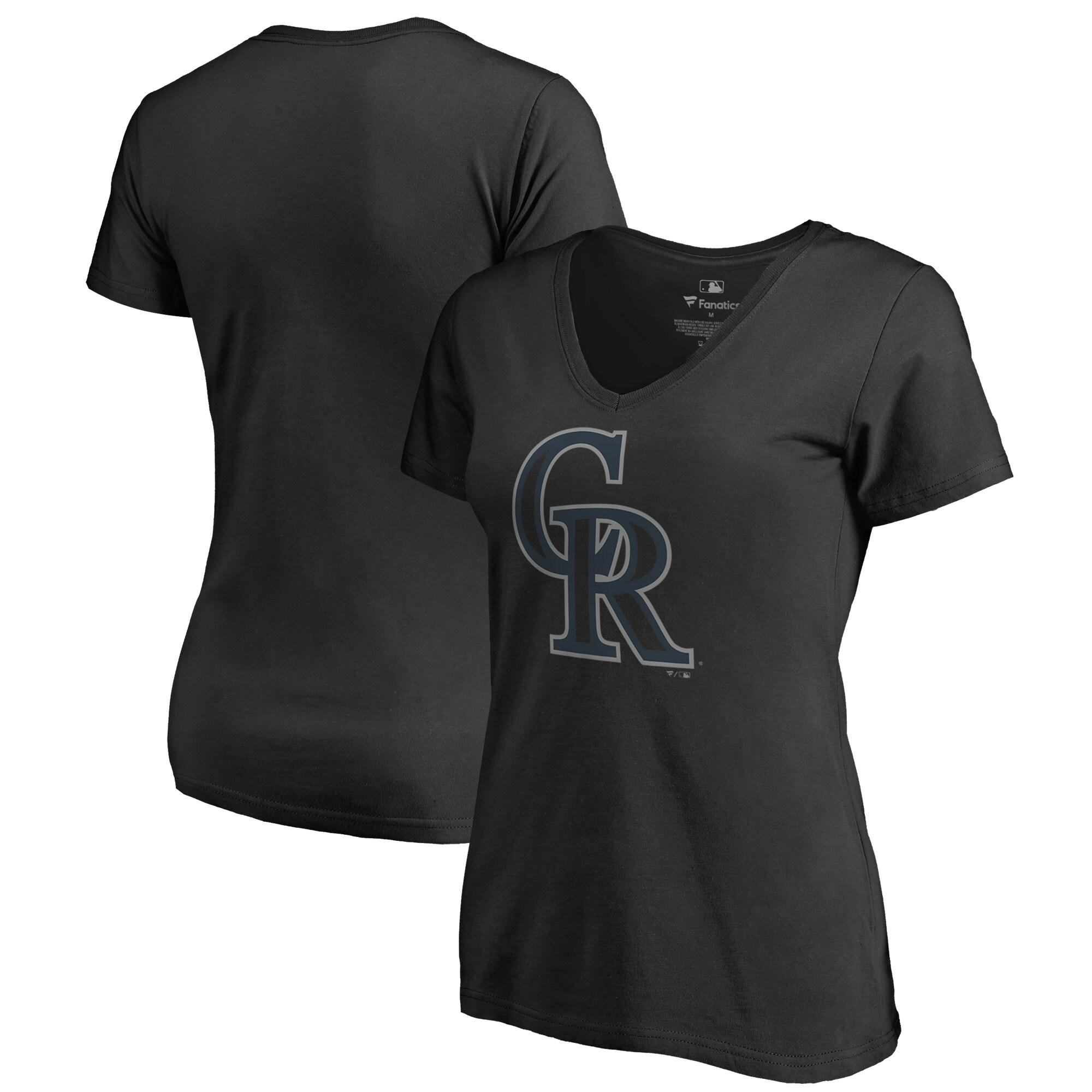 Colorado Rockies Fanatics Branded Women's Taylor Plus Size V-Neck T-Shirt - Black