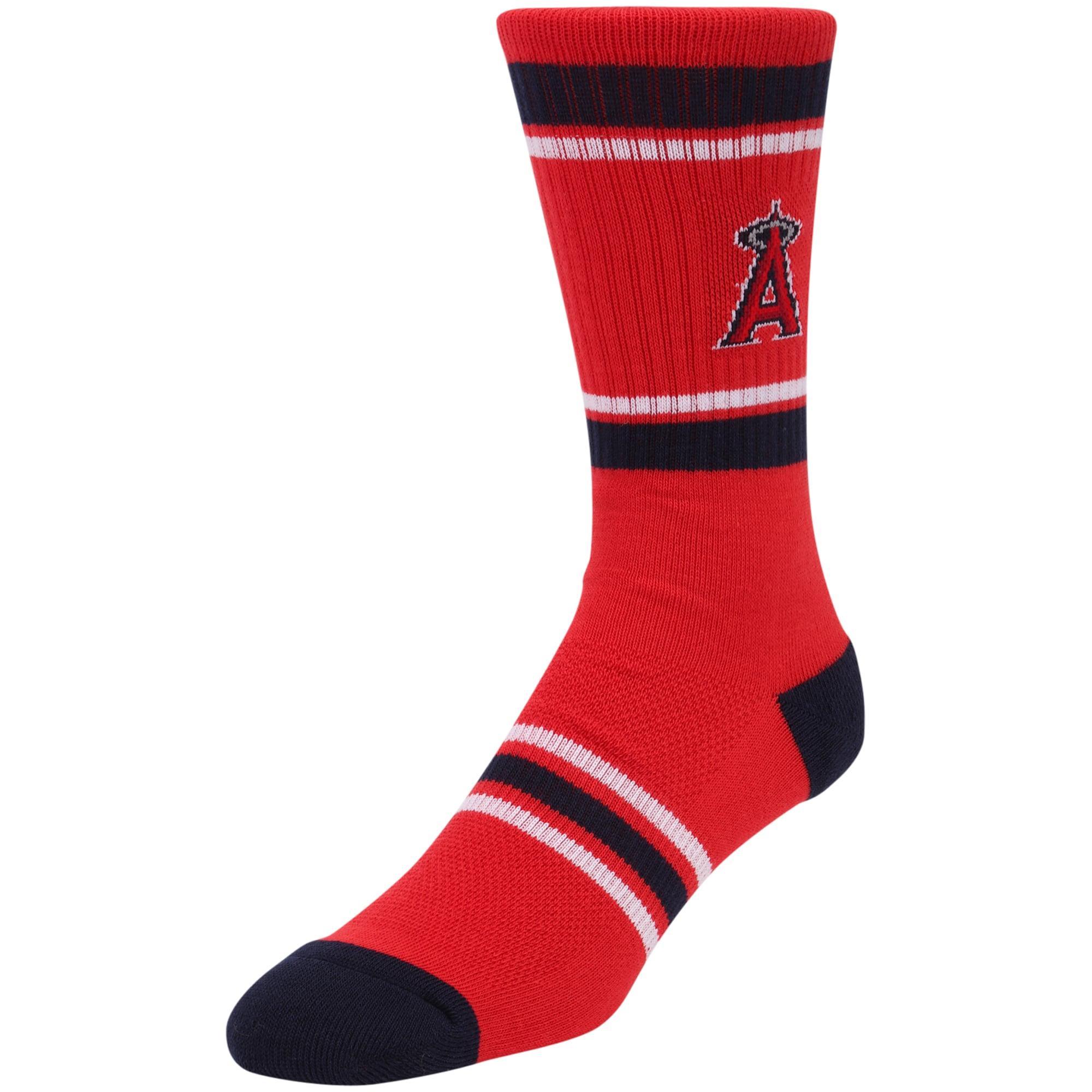 Los Angeles Angels Stripe Crew Socks - Red
