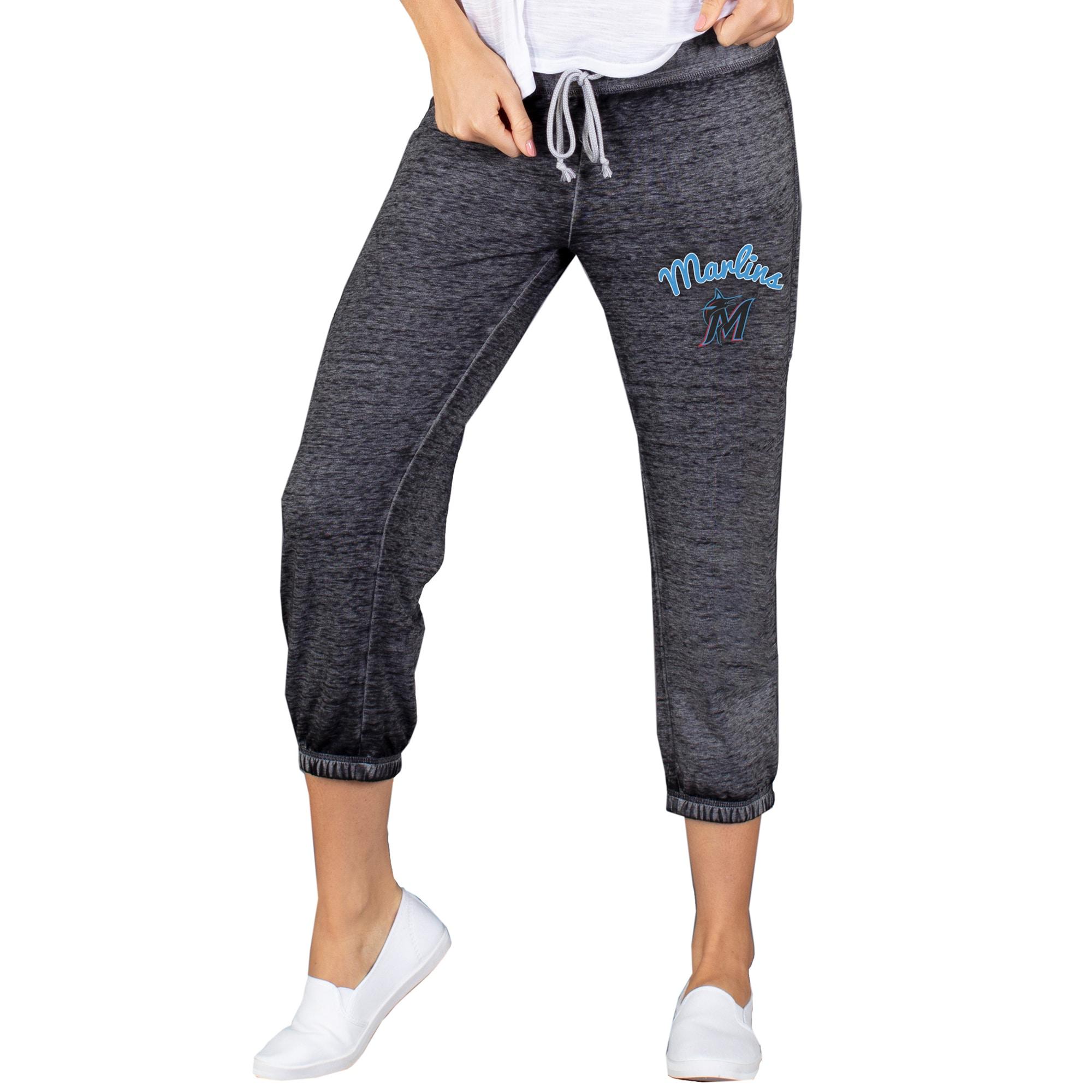 Miami Marlins Concepts Sport Women's NBO Knit Capri Pants - Charcoal