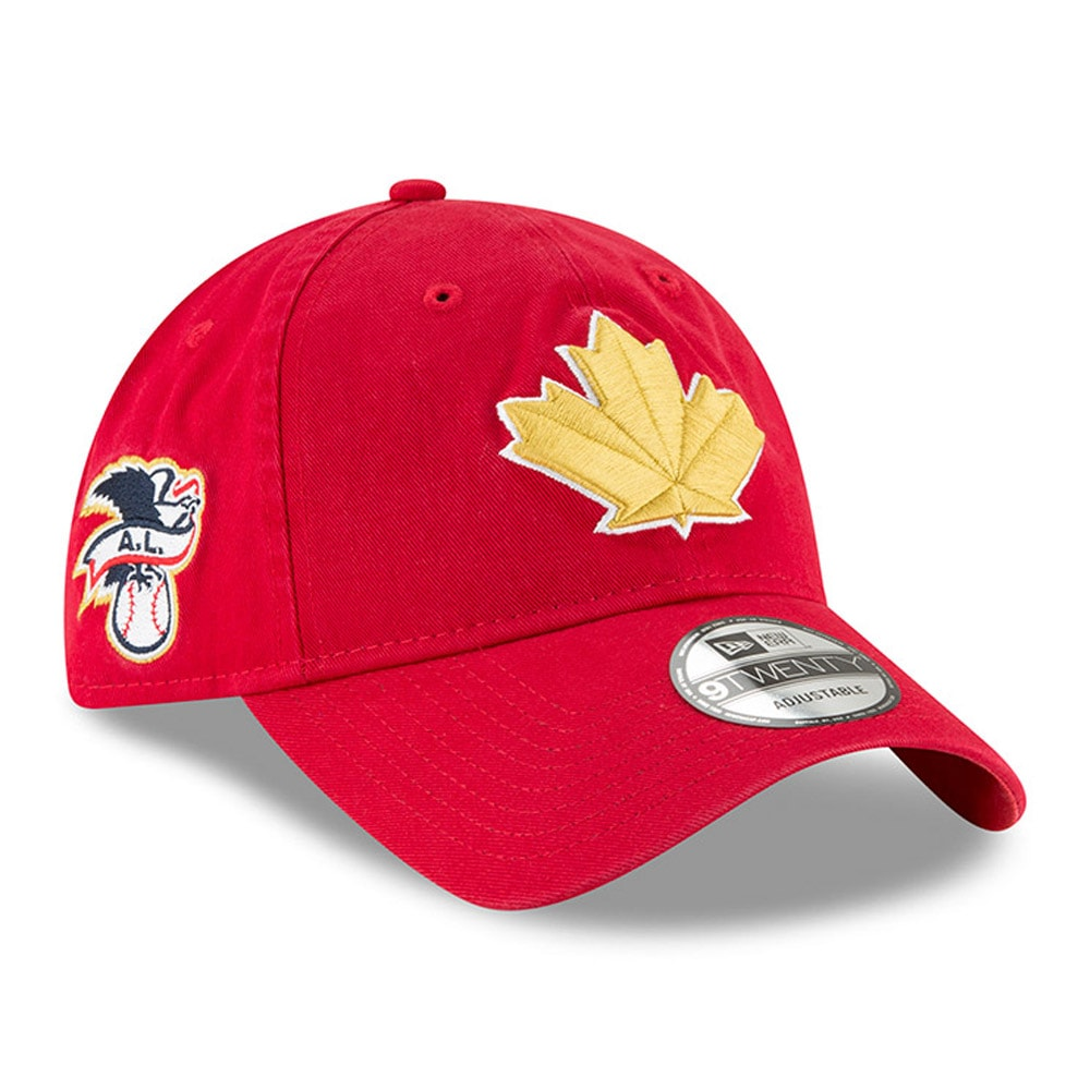 Toronto Blue Jays New Era 2018 Stars & Stripes 4th of July 9TWENTY Adjustable Hat - Red