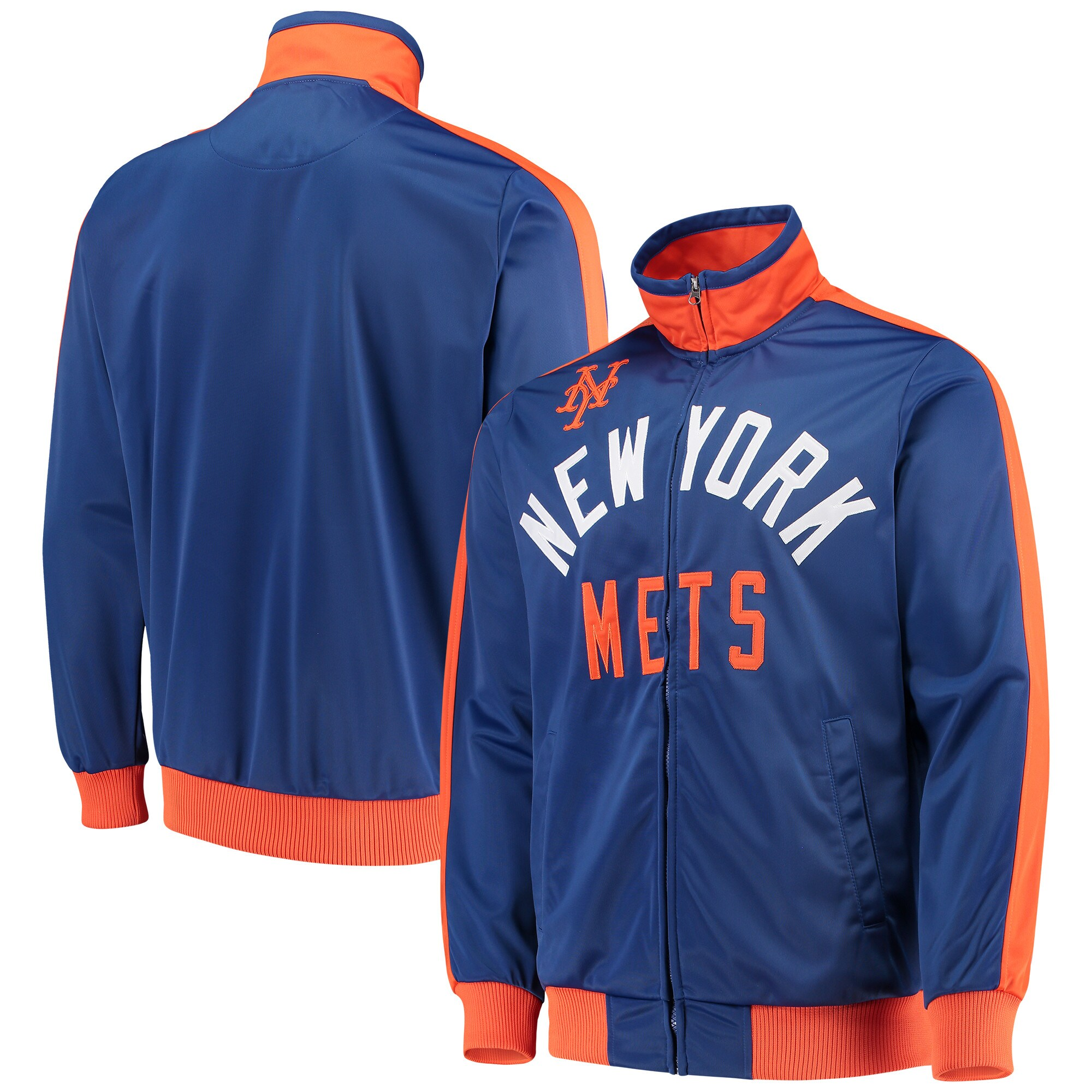 New York Mets G-III Sports by Carl Banks Final Four Full-Zip Track Jacket - Royal