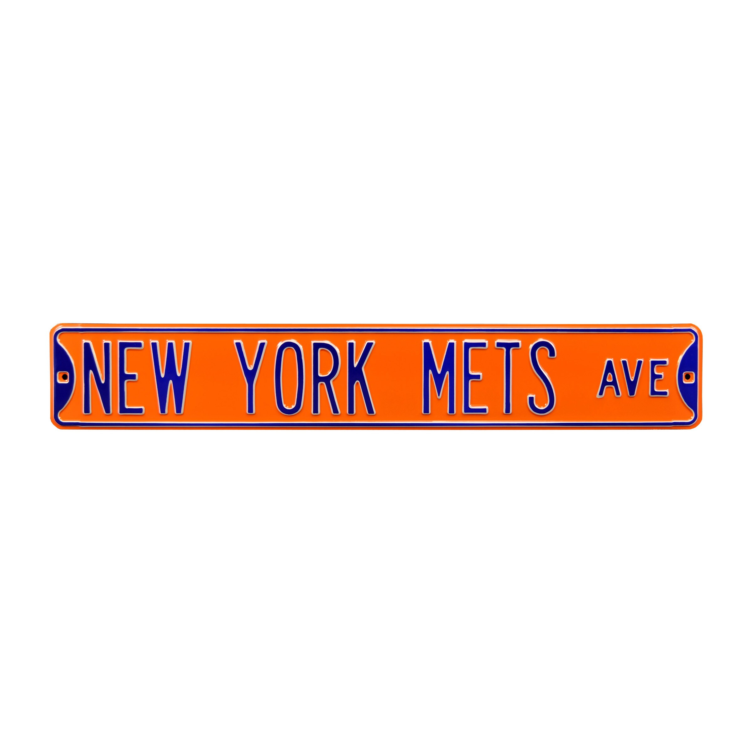 "New York Mets 6"" x 36"" Steel Ave Sign Wall Art - Orange"