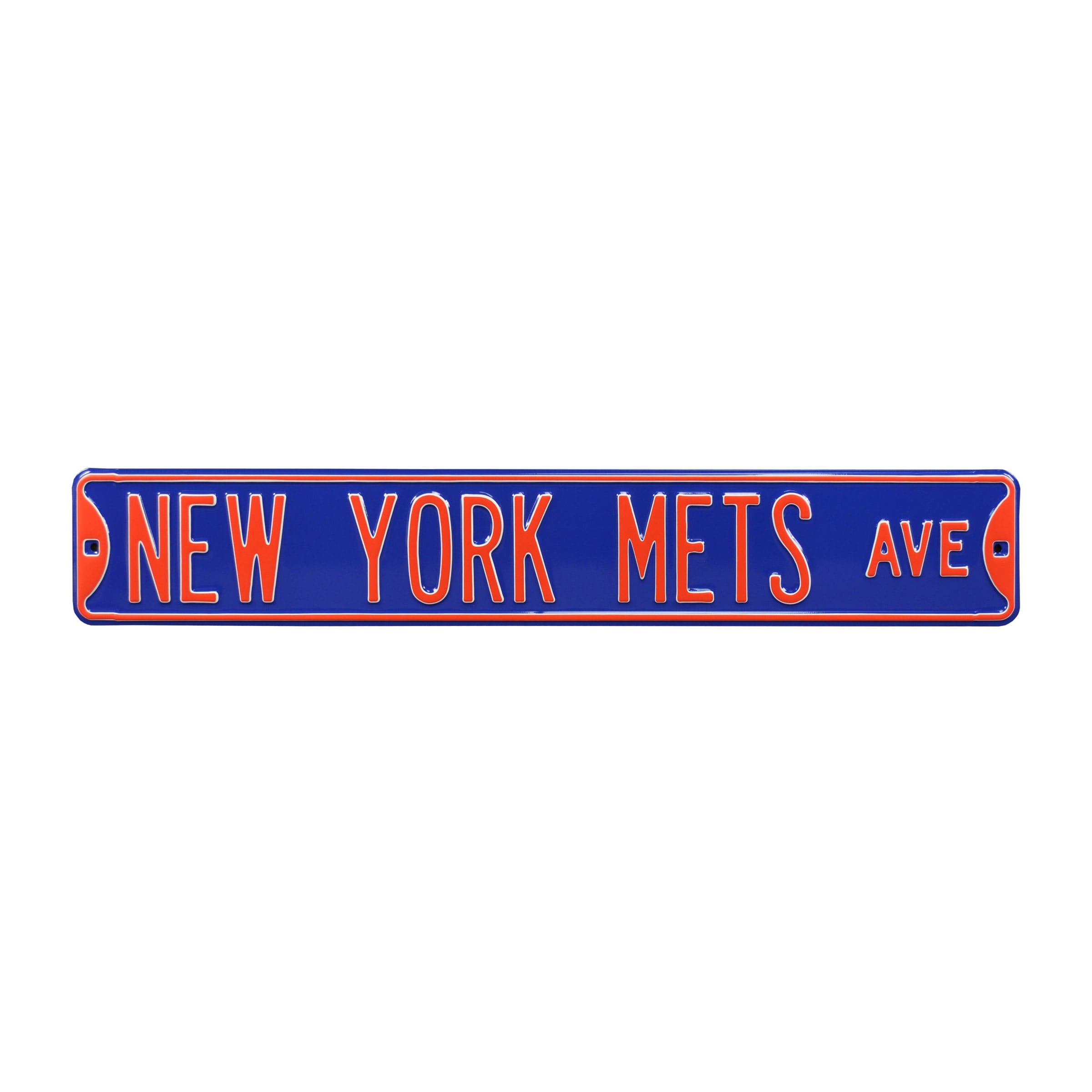 "New York Mets 6"" x 36"" Steel Ave Sign Wall Art - Blue"