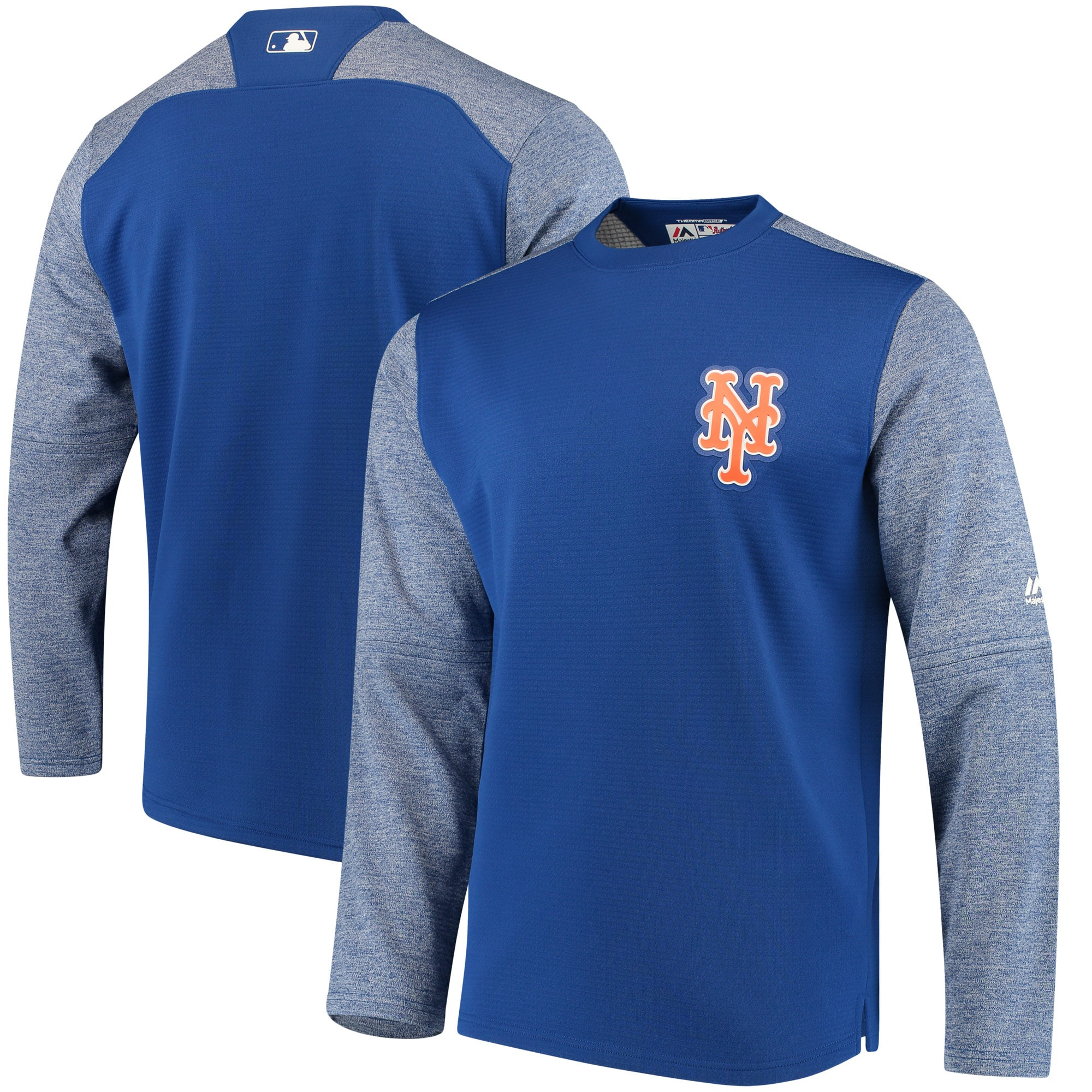 New York Mets Majestic Authentic Collection On-Field Tech Fleece Pullover Sweatshirt - Royal