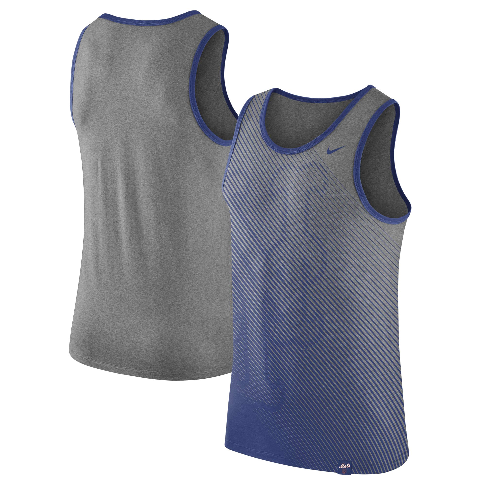 New York Mets Nike 1.7 Tri-Blend Tank Top - Heathered Gray