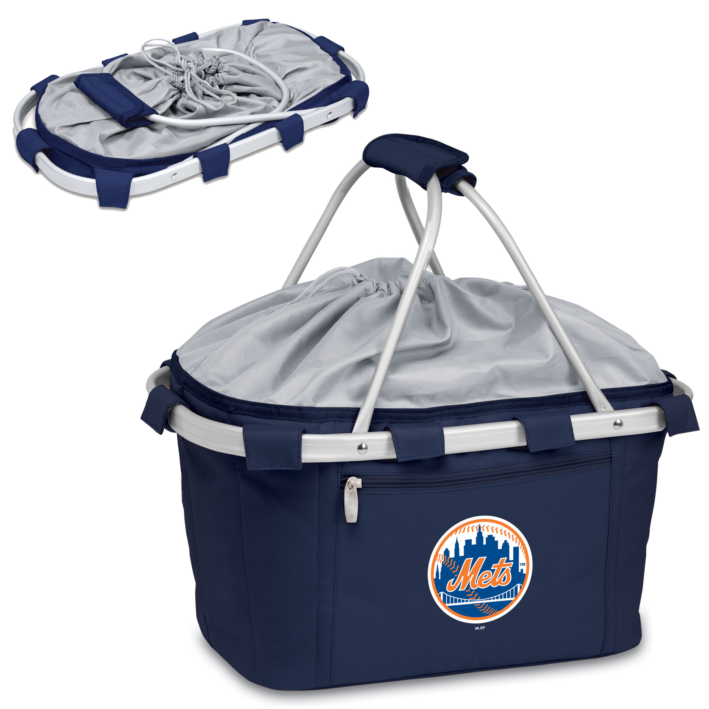 New York Mets Metro Basket Collapsible Tote - Navy