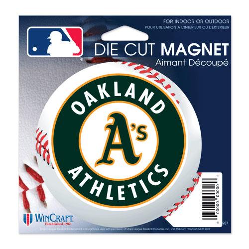 "Oakland Athletics WinCraft 5"" Die-Cut Car Magnet"