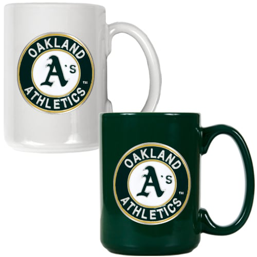 Oakland Athletics 15oz. Coffee Mug Set