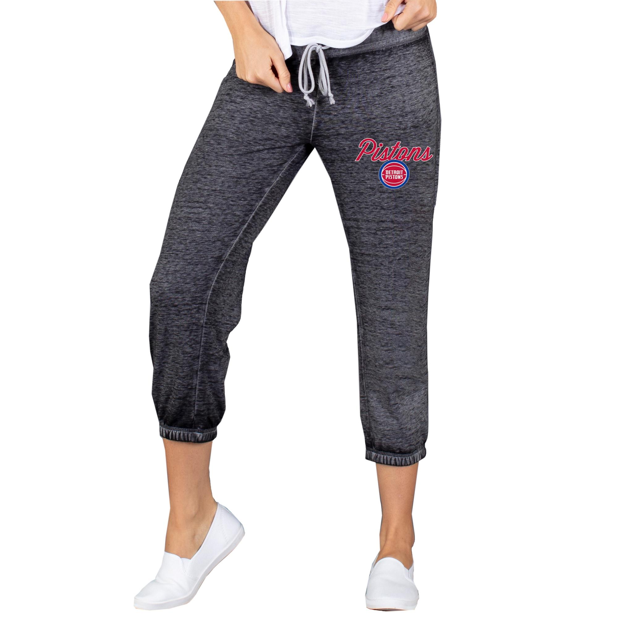 Detroit Pistons Concepts Sport Women's Capri Knit Lounge Pants - Charcoal