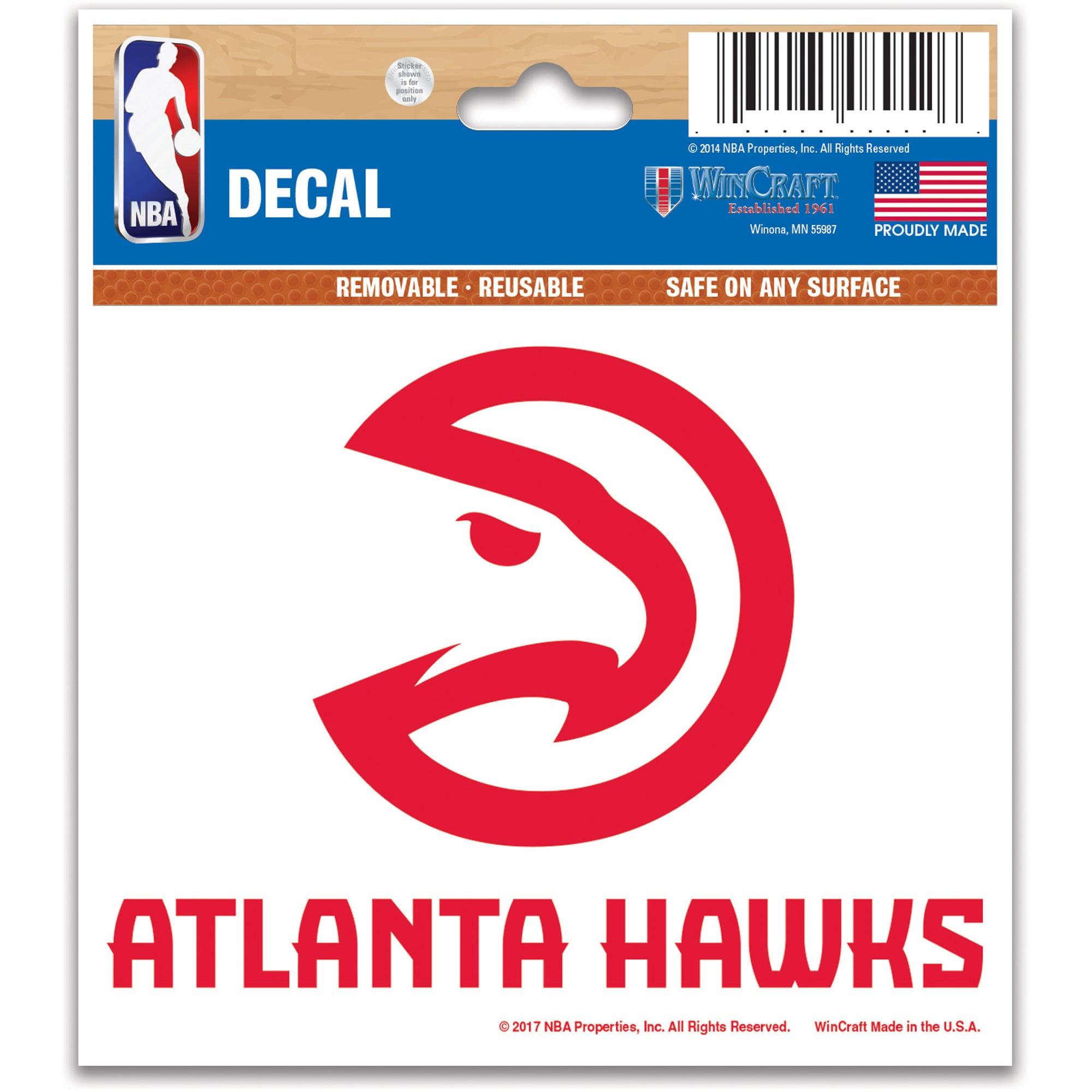 WinCraft Atlanta Hawks 3'' x 4'' Multi Use Decal