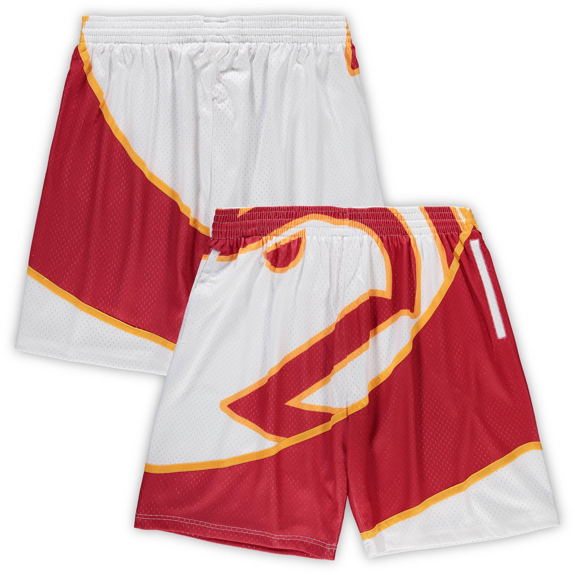 Atlanta Hawks Mitchell & Ness Big & Tall Hardwood Classics Big Face Shorts - White